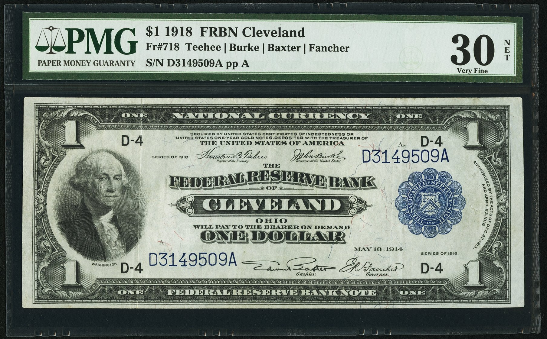 sample image for 1918 $1  Cleveland (Fr.# 718)