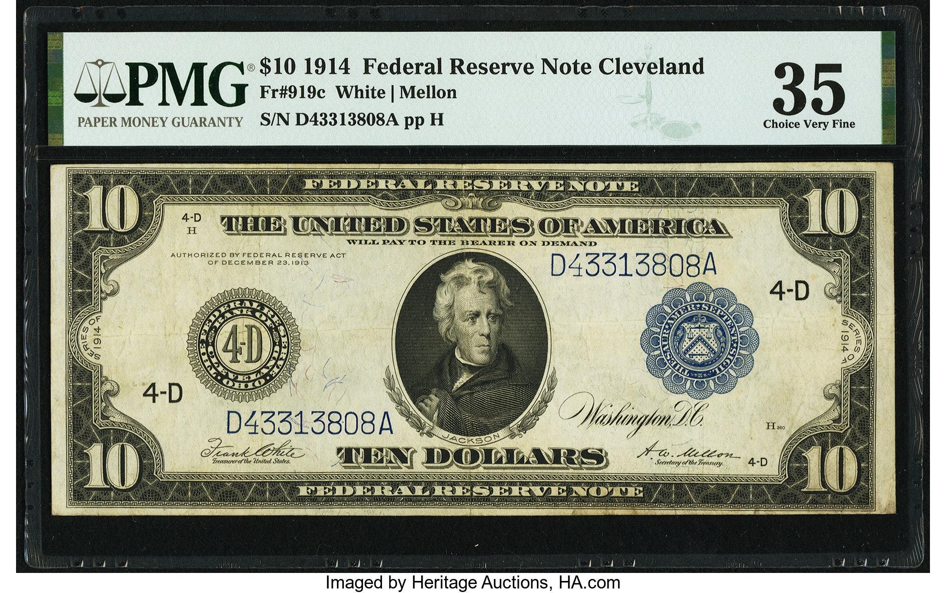 sample image for Fr.919C $10 Cleveland