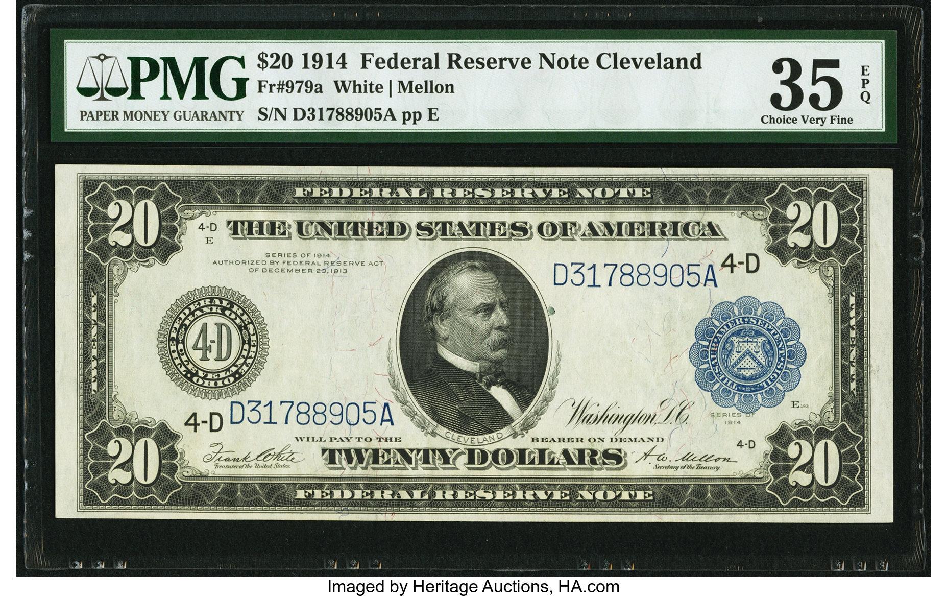 sample image for Fr.979A $20 Cleveland