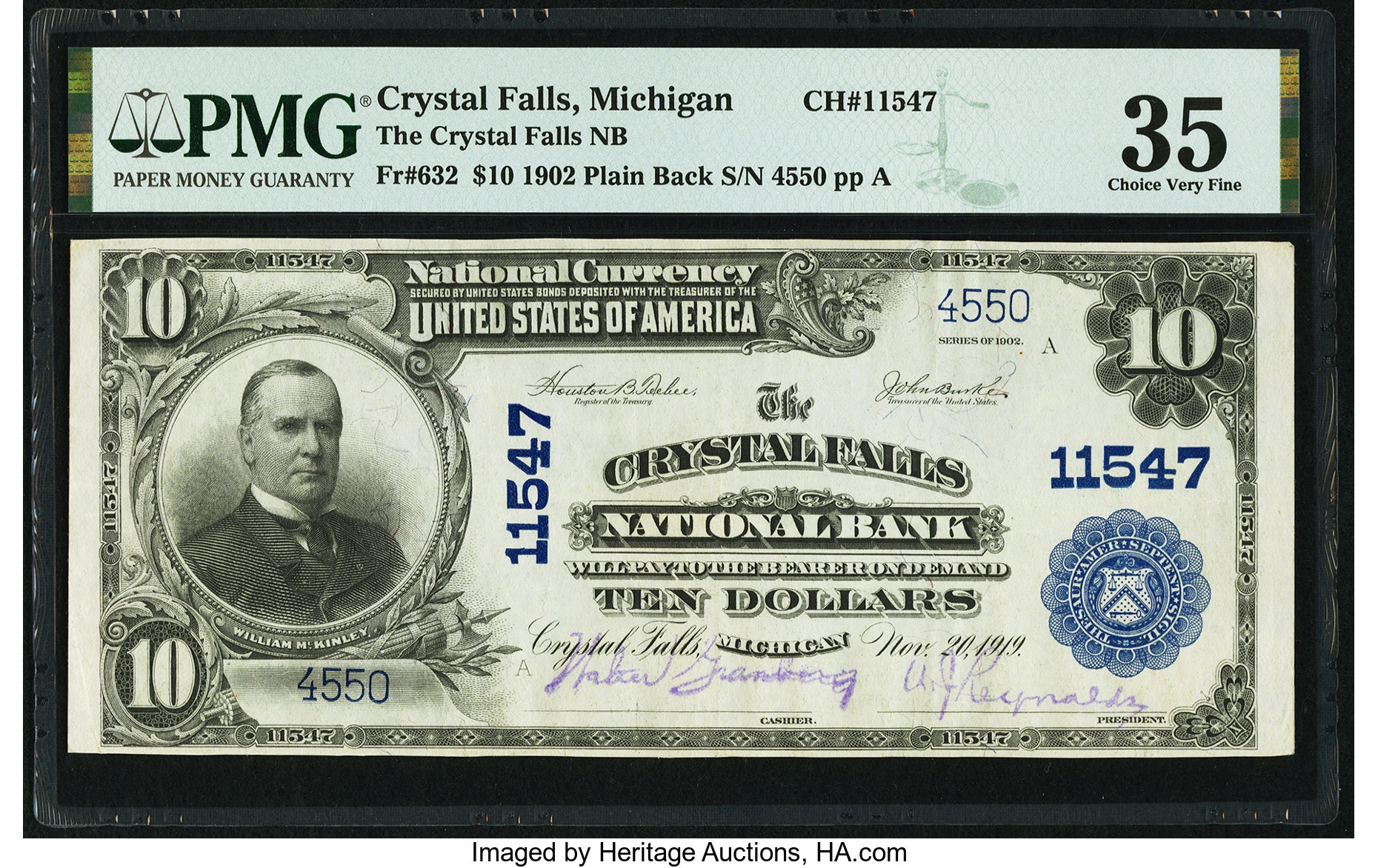sample image for 1902 3rd Charter Period $10  Plain Back 3rd Issue (Fr.# 632)
