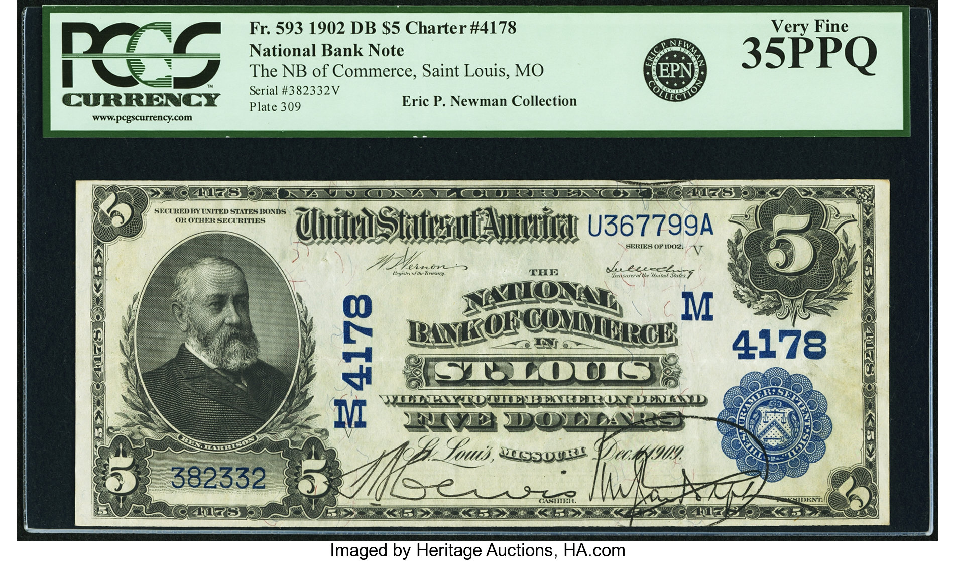 sample image for 1902 3rd Charter Period $5  Date Back 2nd Issue (Fr.# 593)