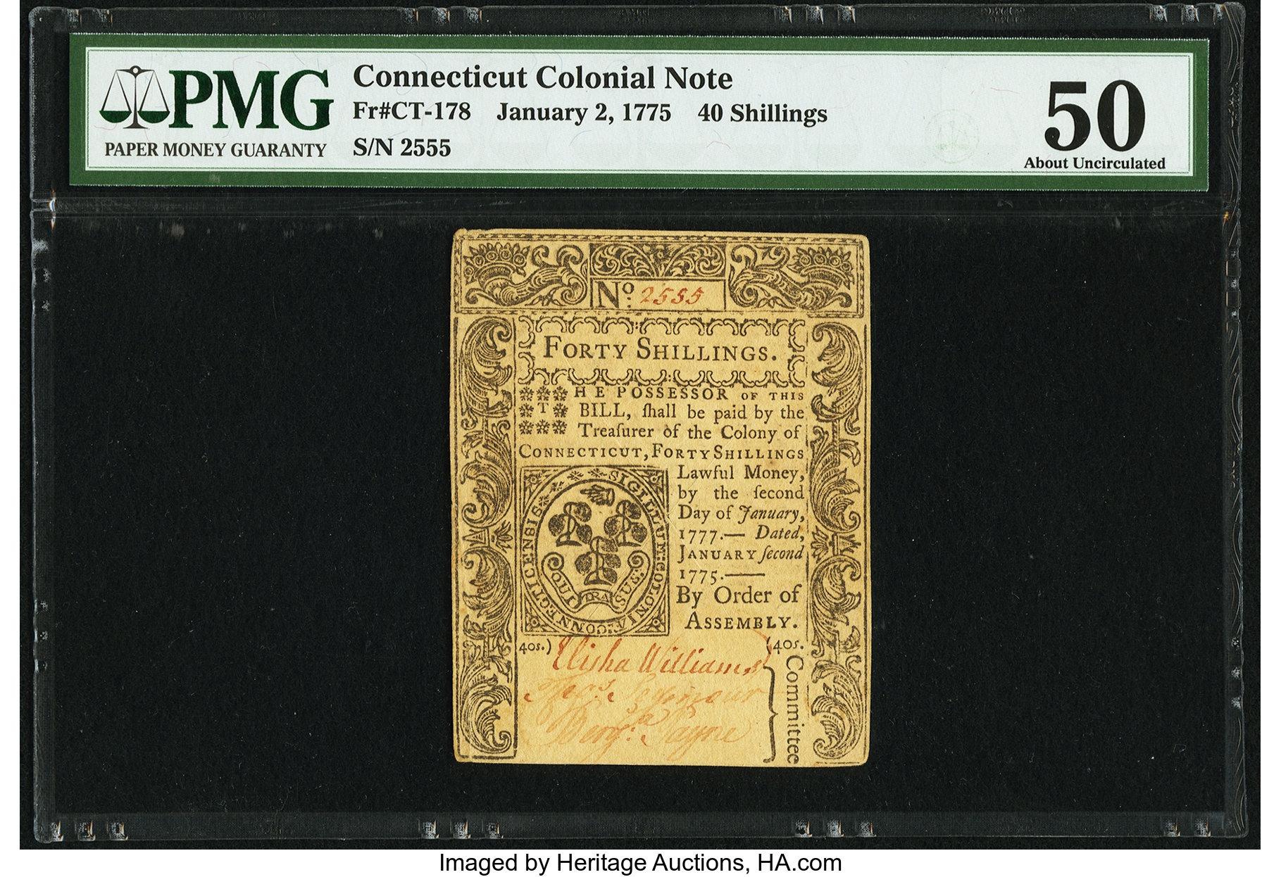 sample image for 1775 2-Jan 40s (Fr.# CT178)