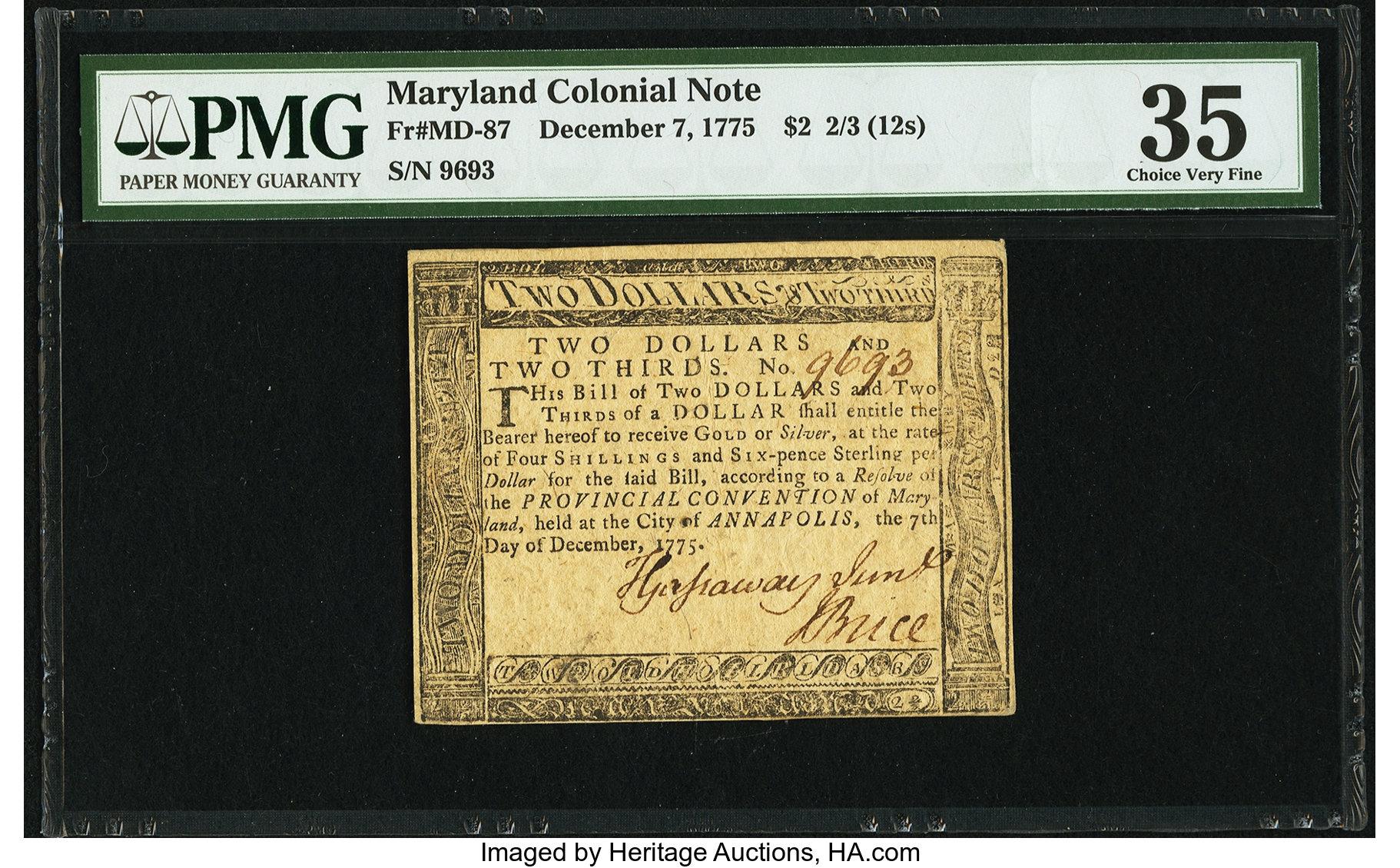 sample image for 1775 7-Dec $2  (Fr.# MD87)