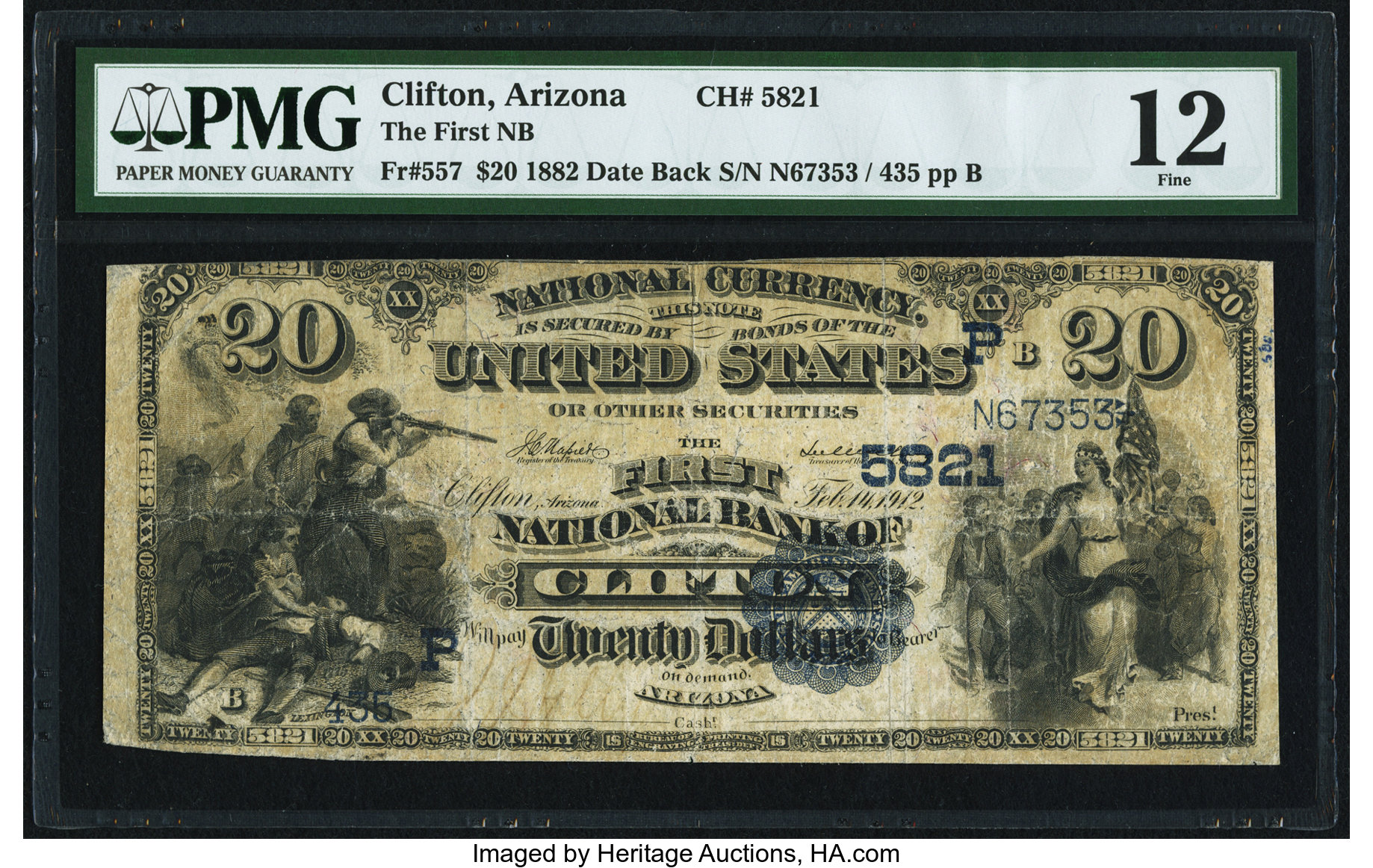 sample image for 1882 2nd Charter Period $20  Date Back 2nd Issue (Fr.# 557)