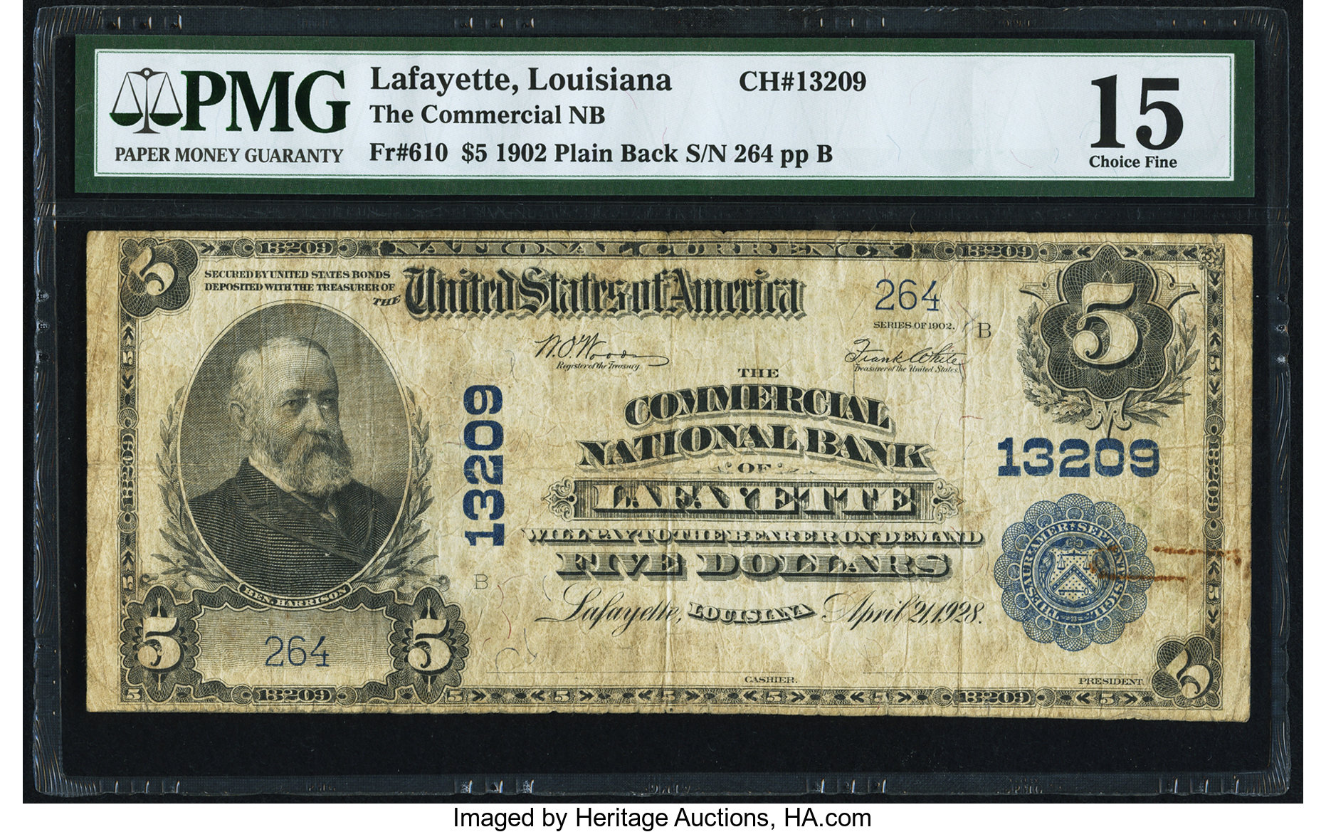 sample image for 1902 3rd Charter Period $5  Plain Back 3rd Issue (Fr.# 610)