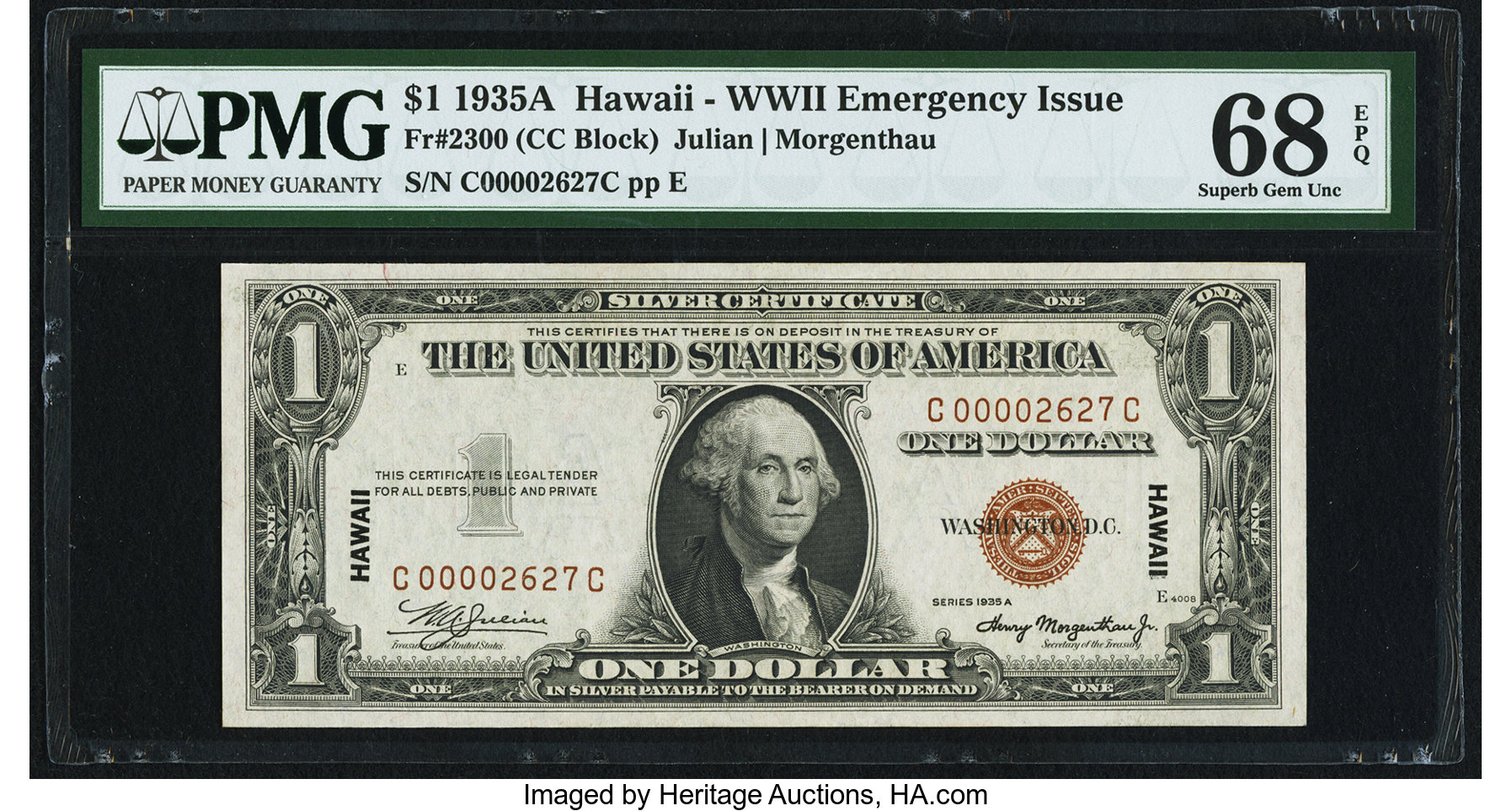 sample image for 1935A Hawaiian $1  (Fr.# 2300)
