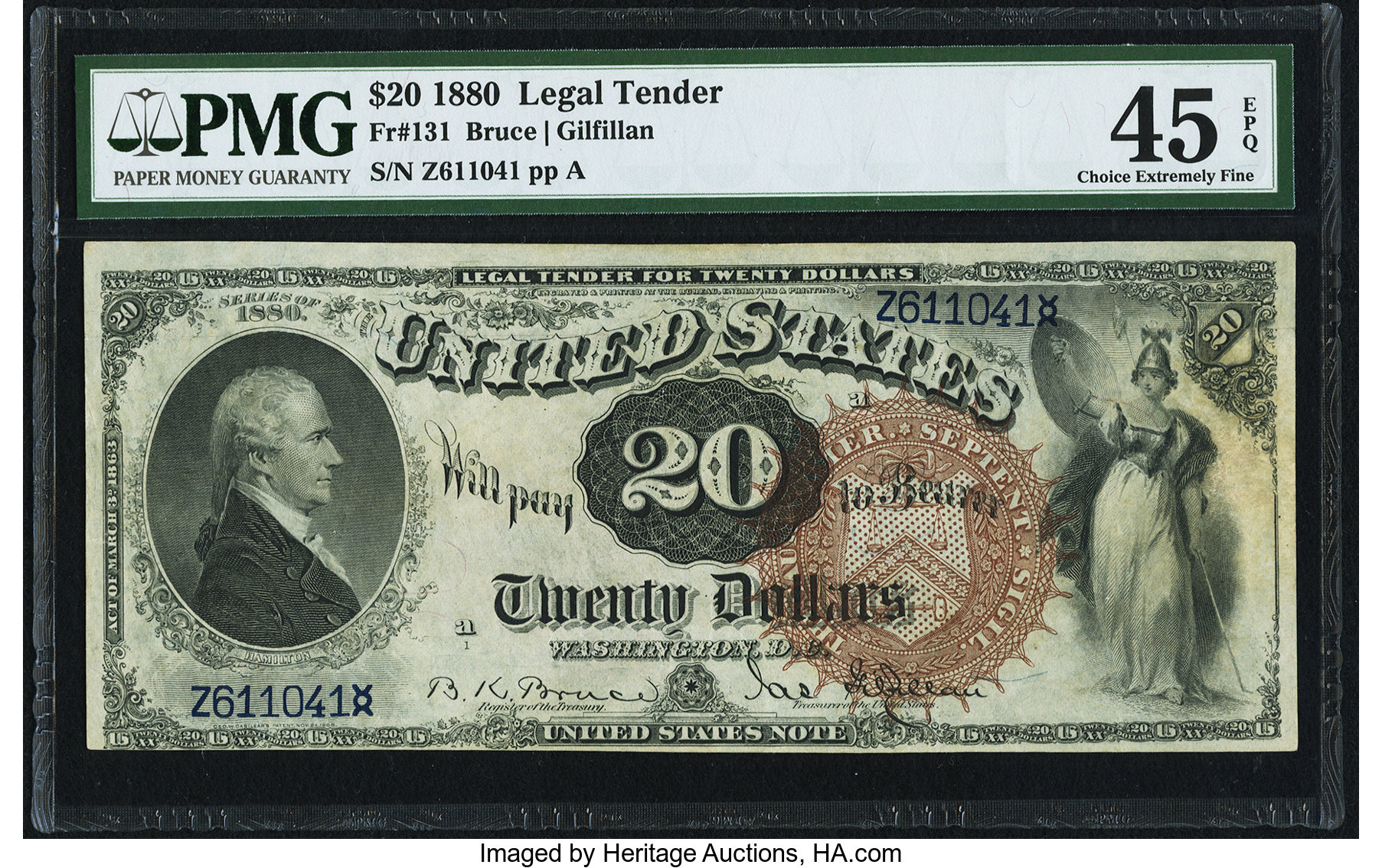 sample image for 1880 $20  (Fr.# 131)