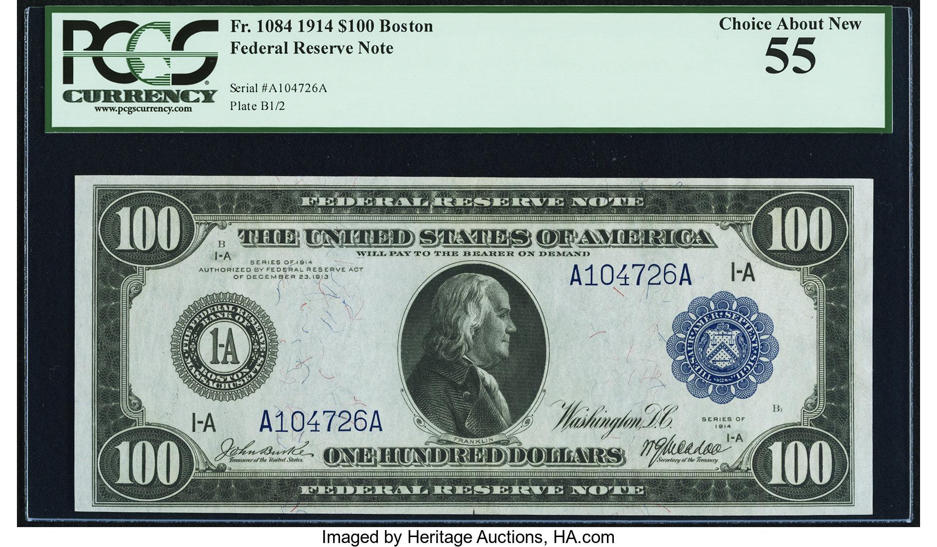 sample image for Fr.1084 $100 Boston