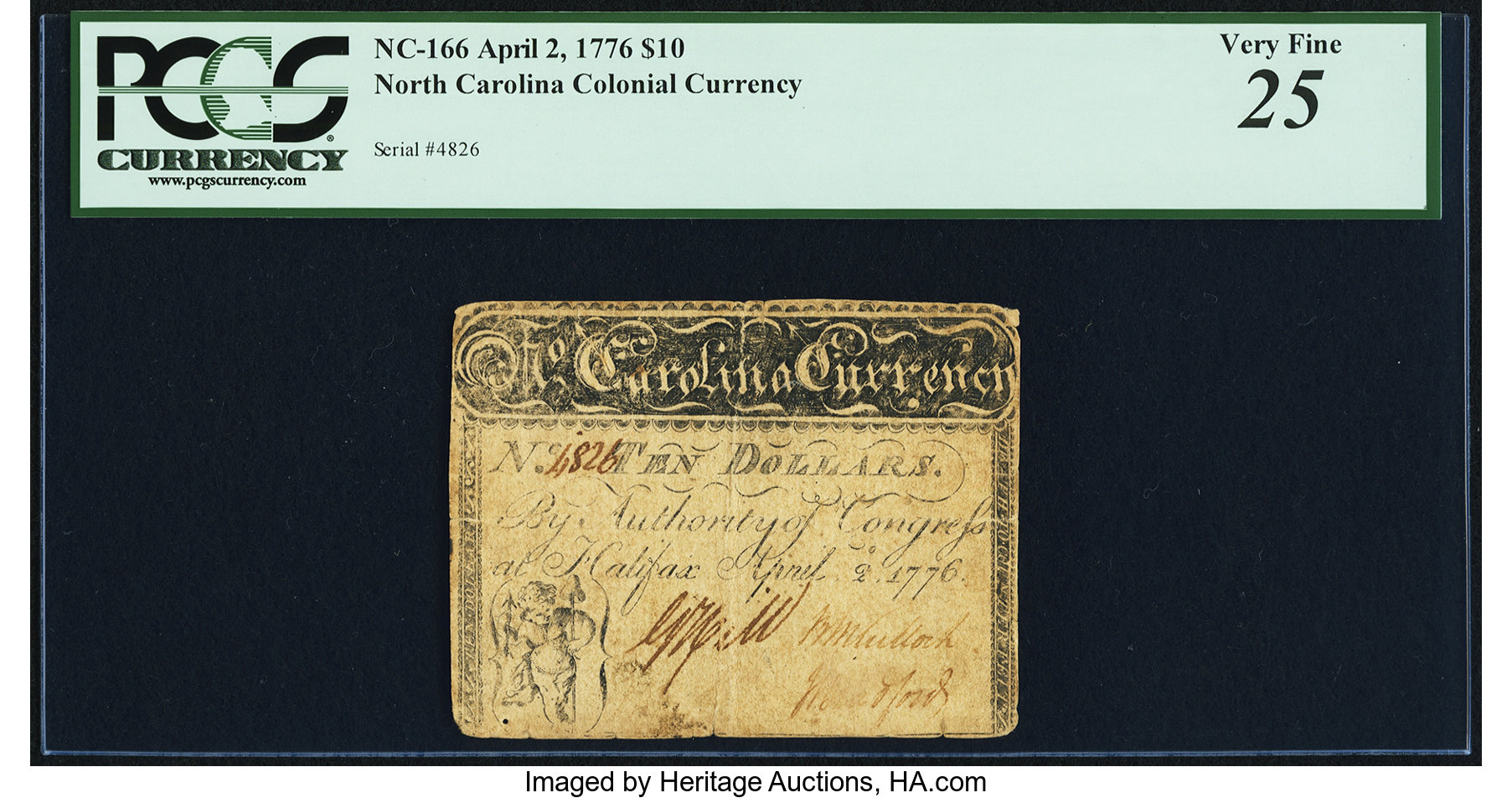 sample image for 1776 2-Apr $10  Cupid (Fr.# NC166a)