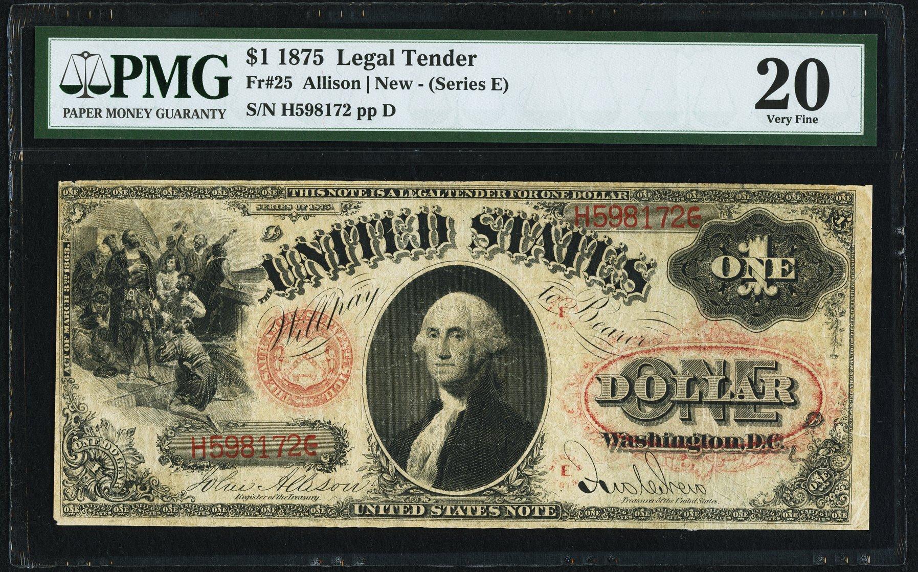sample image for 1875 $1  (Fr.# 25)