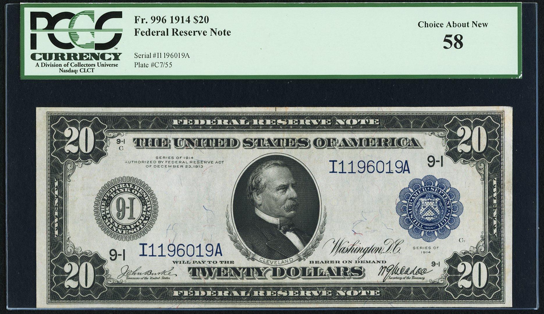 sample image for Fr.996 $20 Minneapolis