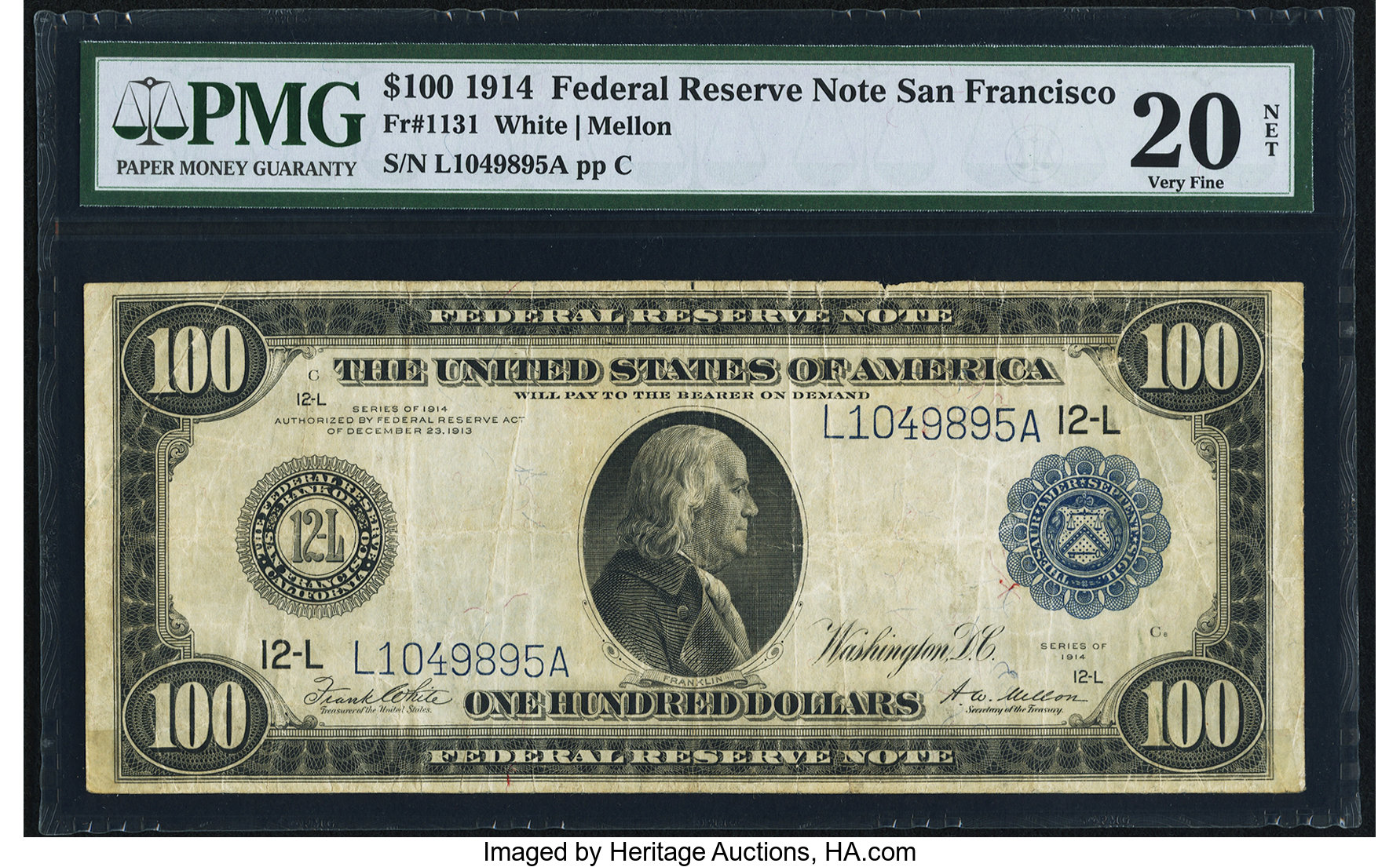 sample image for Fr.1131 $100 SF