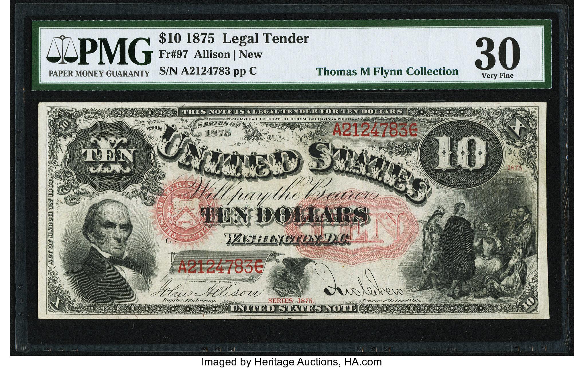sample image for 1875 $10  (Fr.# 97)