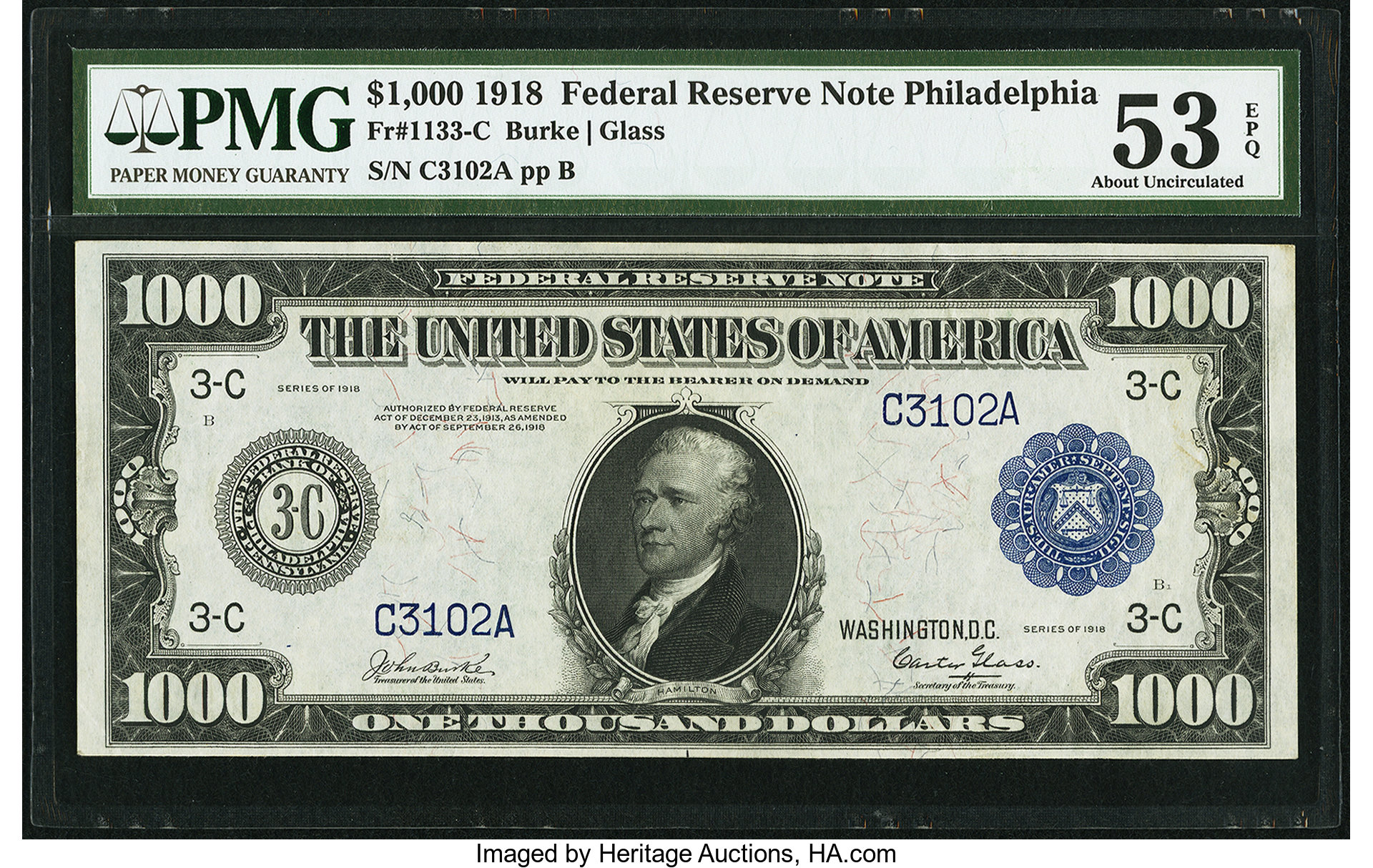 sample image for Fr.1133-C $1,000 Philly
