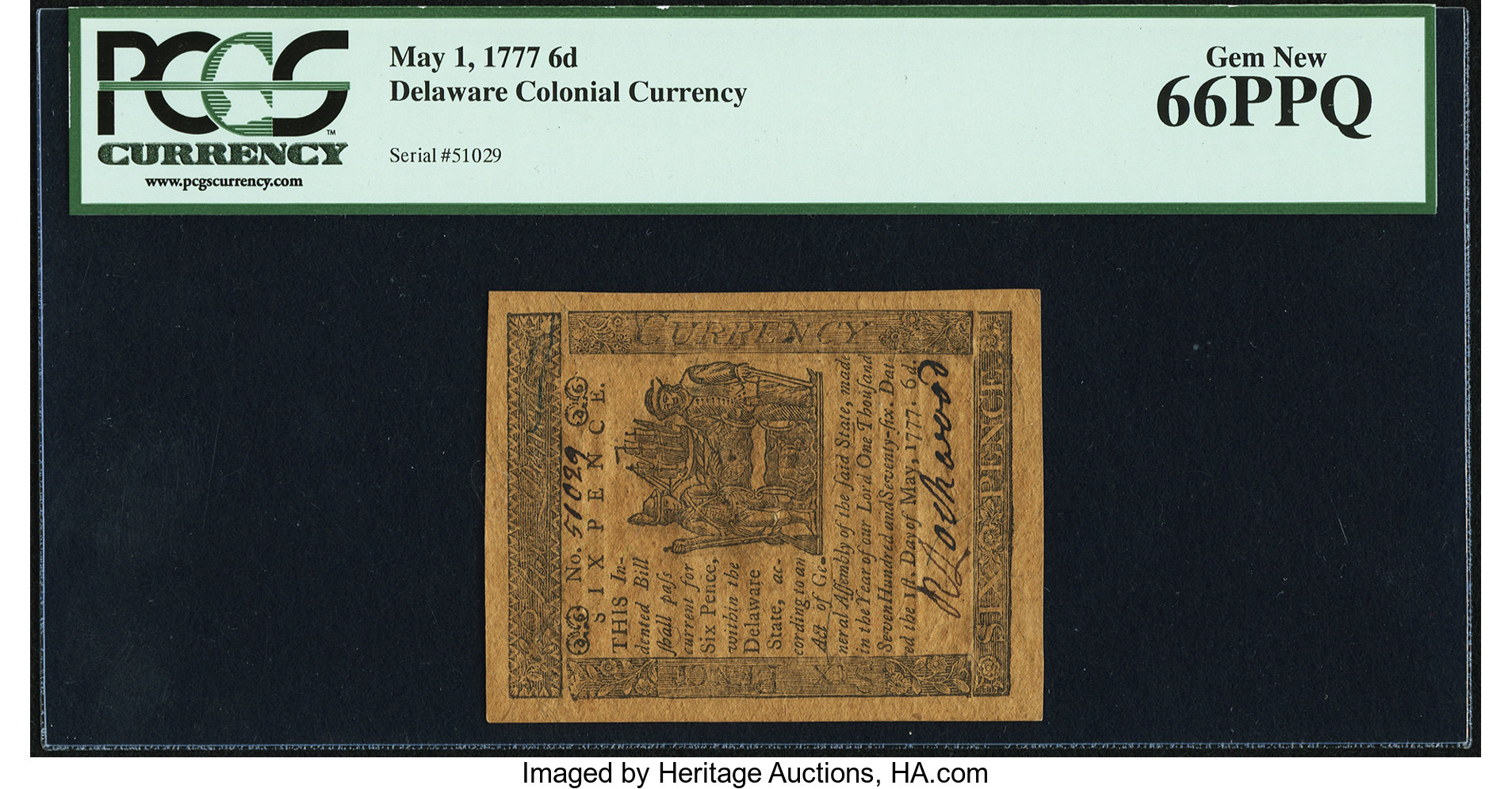 sample image for 1777 1-May 6d (Fr.# DE83)