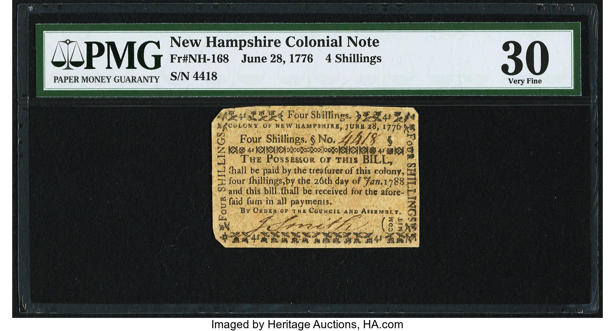 sample image for 1776 28-Jun 4s (Fr.# NH168)
