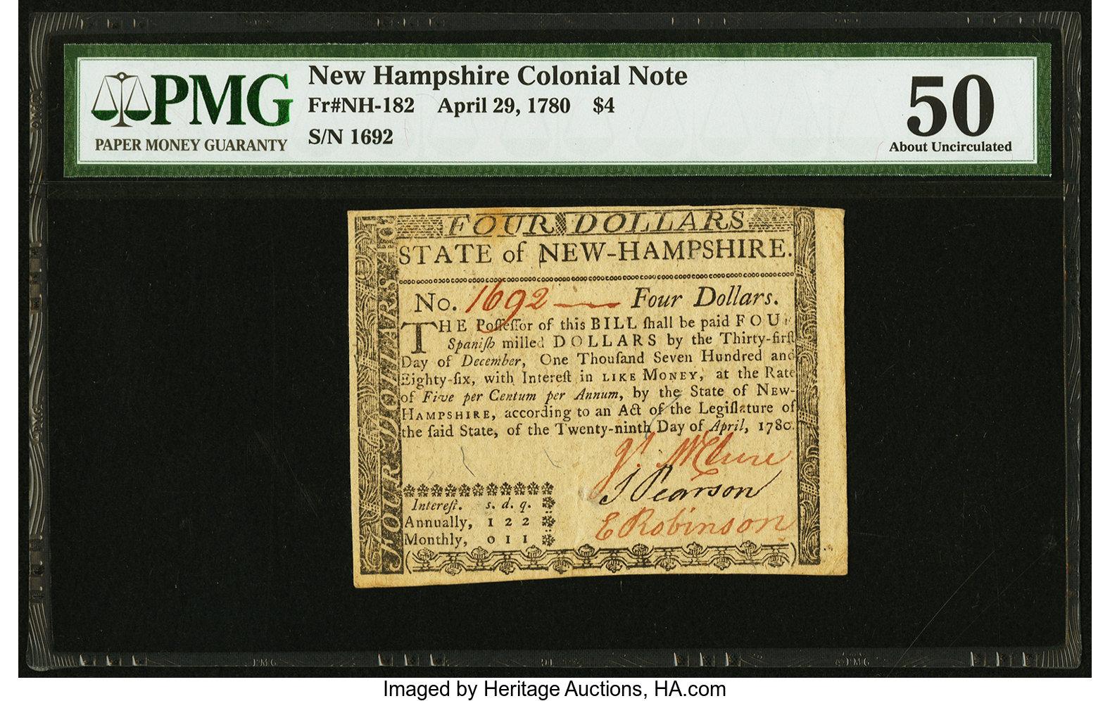 sample image for 1780 29-Apr $4  (Fr.# NH182)