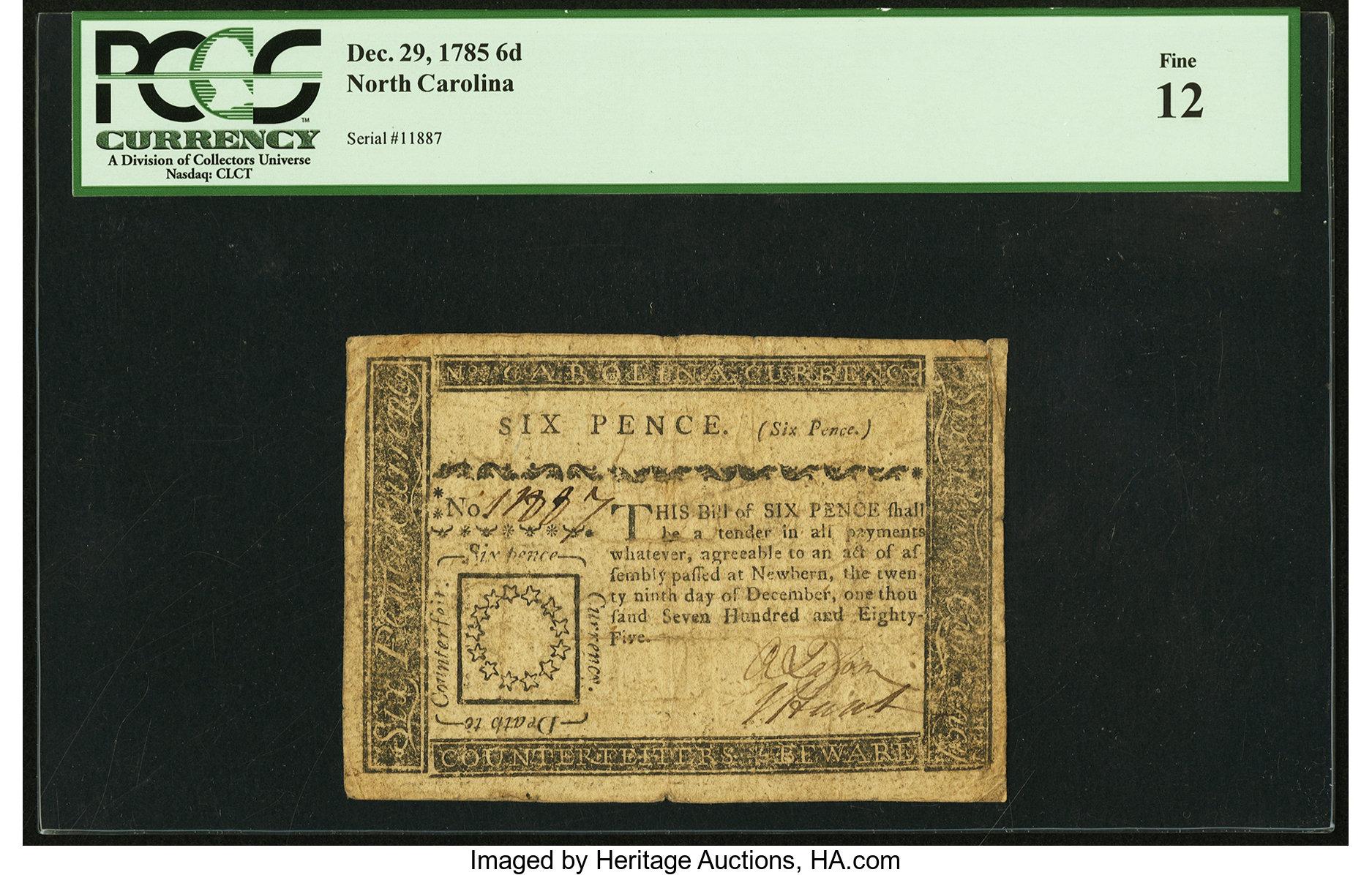 sample image for 1785 29-Dec 6d (Fr.# NC208)