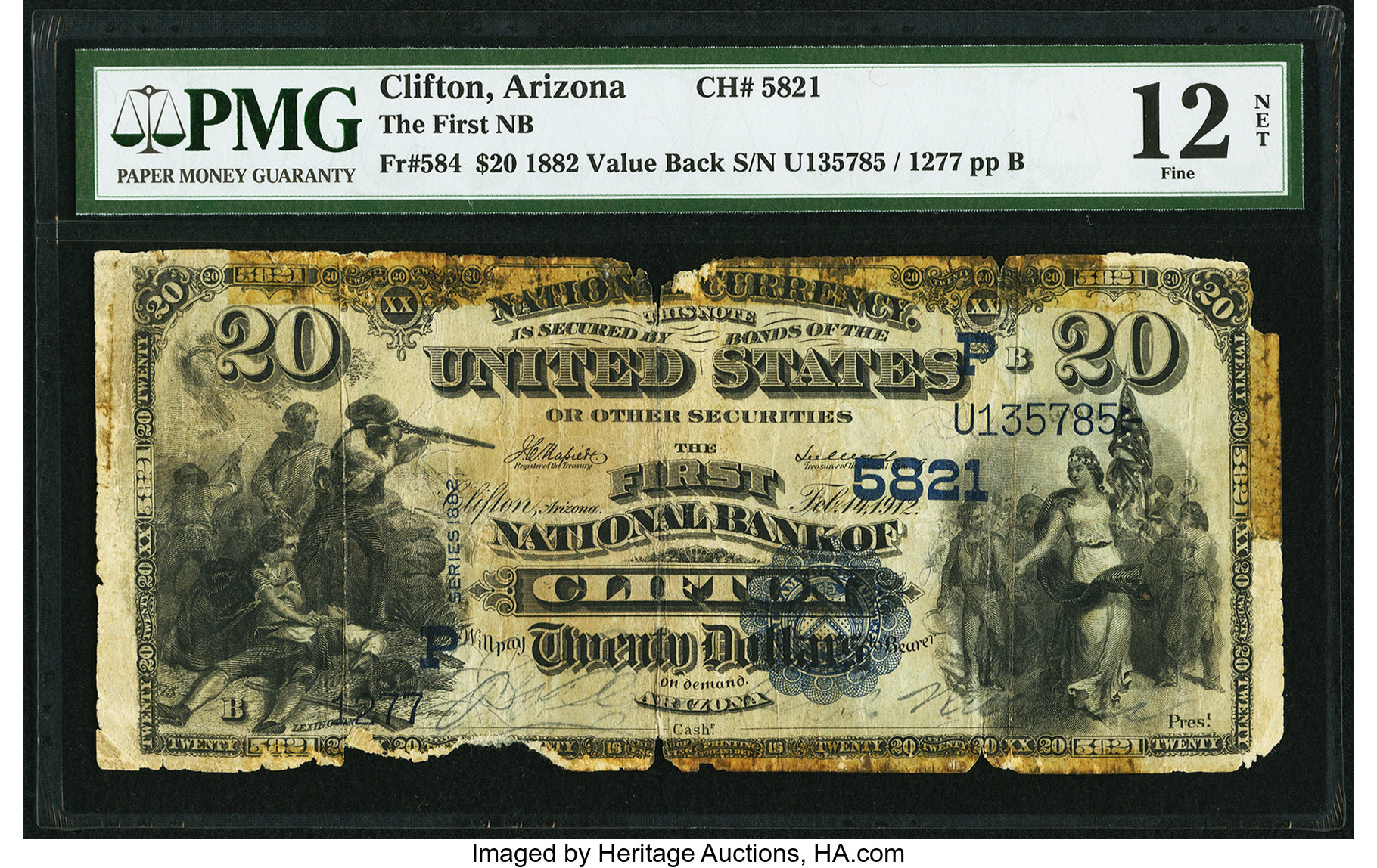 sample image for 1882 2nd Charter Period $20  Value Back 3rd Issue (Fr.# 584)