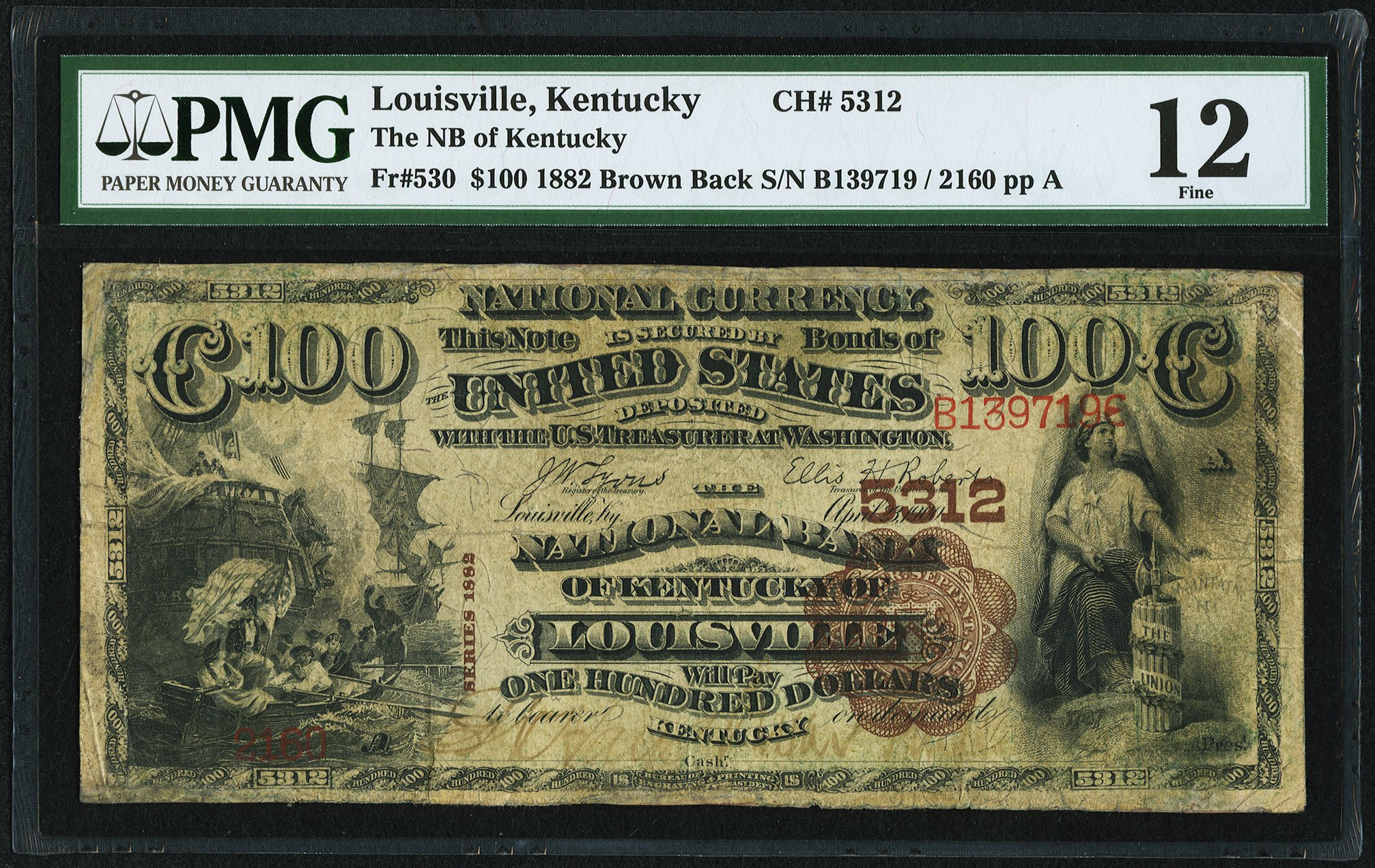 sample image for 1882 2nd Charter Period $100  Brown Back 1st Issue (Fr.# 530)