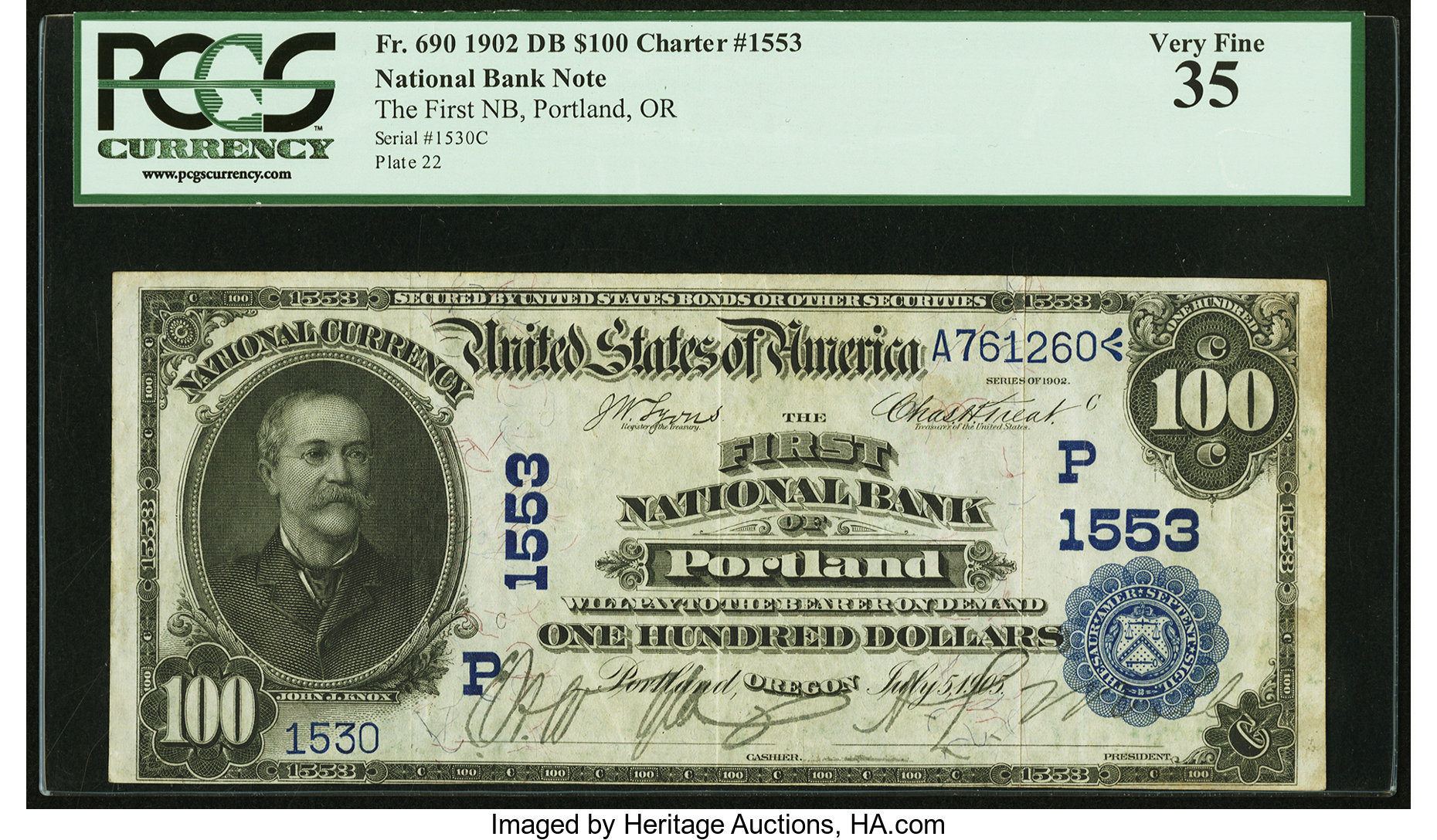 sample image for 1902 3rd Charter Period $100  Date Back 2nd Issue (Fr.# 690)