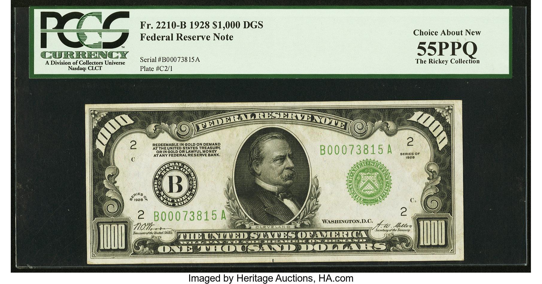 sample image for Fr.2210B $1,000 1928 New York