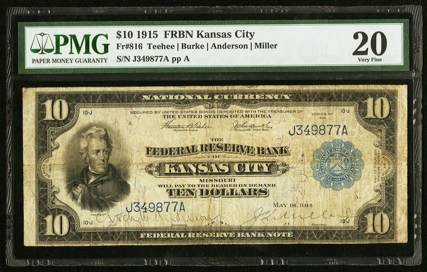 sample image for 1915 $10  Kansas City (Fr.# 816)