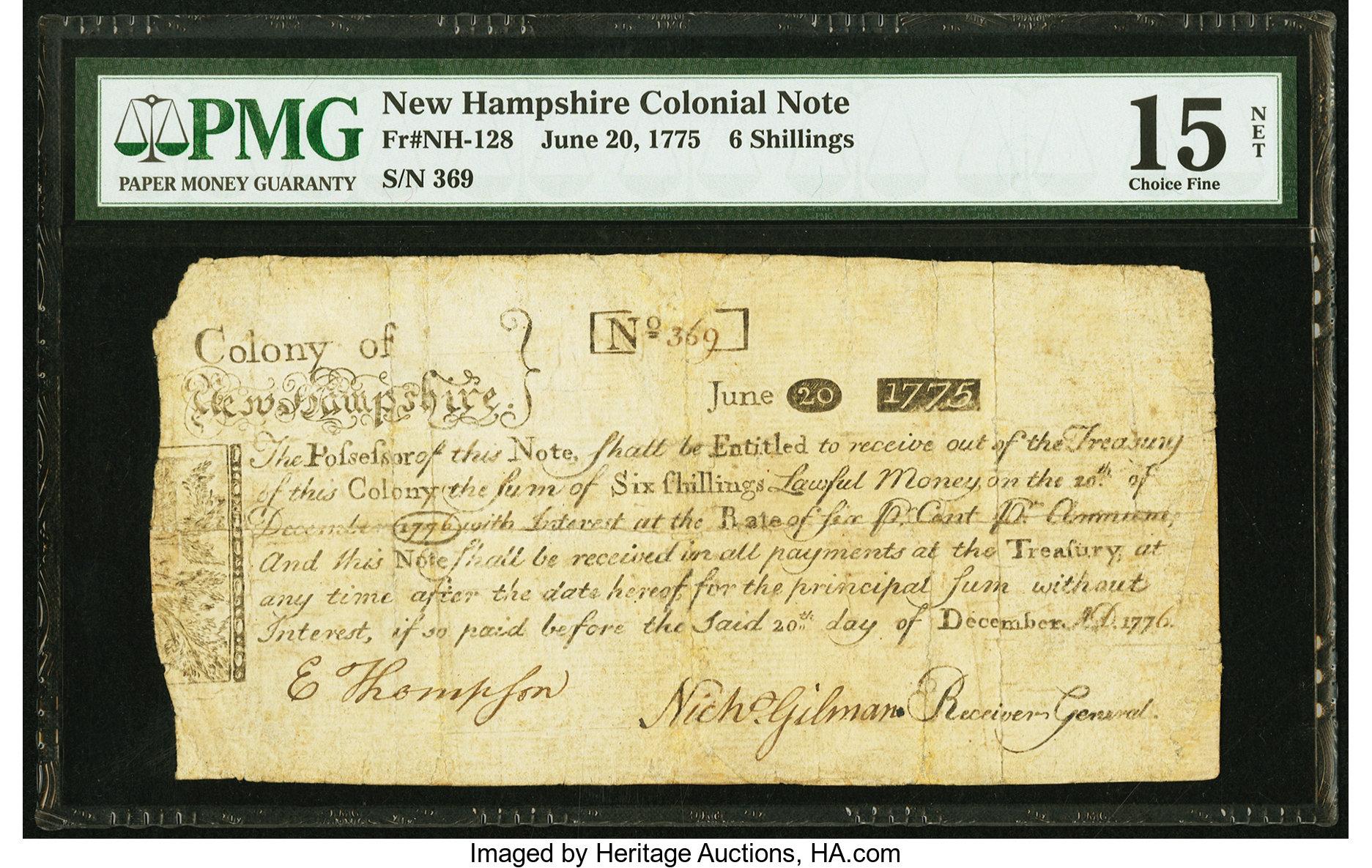 sample image for 1775 20-Jun 6s (Fr.# NH128)