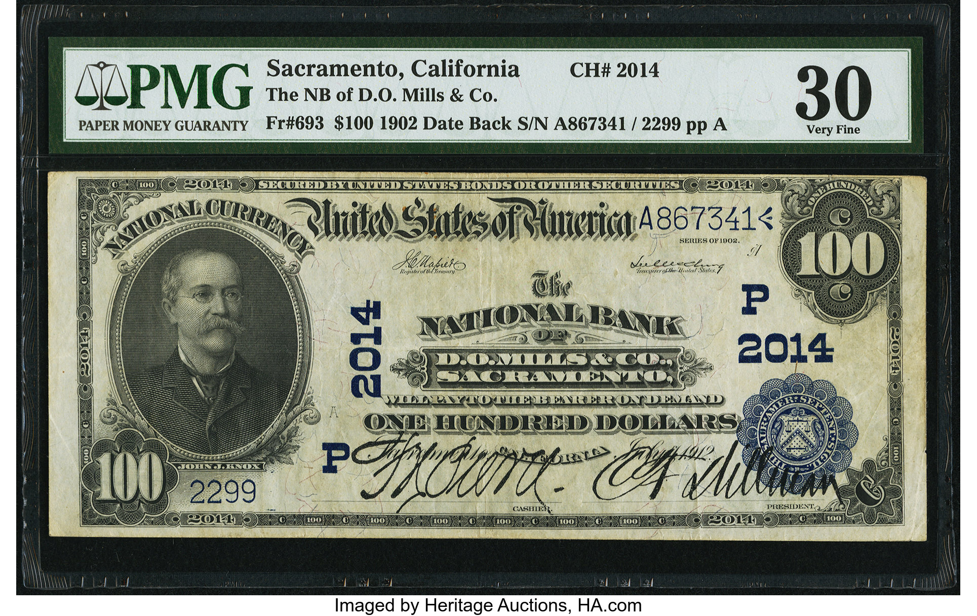 sample image for 1902 3rd Charter Period $100  Date Back 2nd Issue (Fr.# 693)