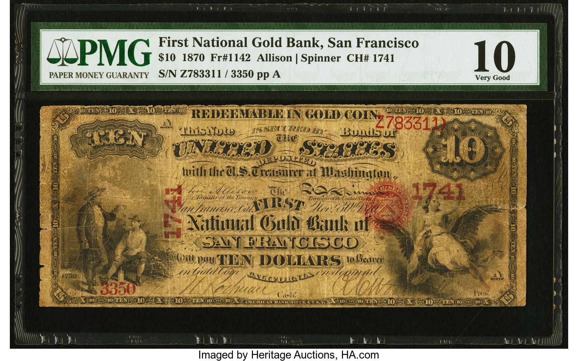 sample image for 1870 $10  San Francisco (Fr.# 1142)