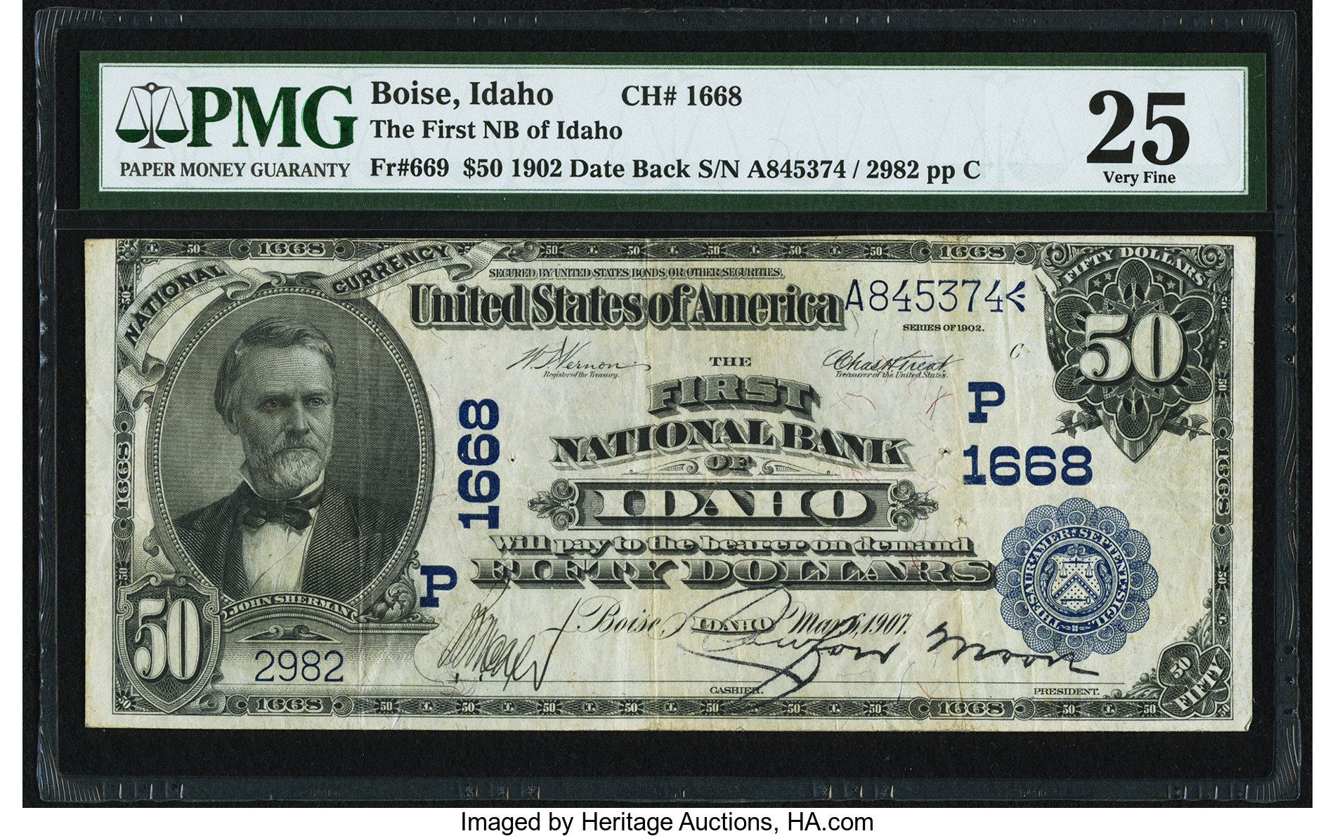 sample image for 1902 3rd Charter Period $50  Date Back 2nd Issue (Fr.# 669)