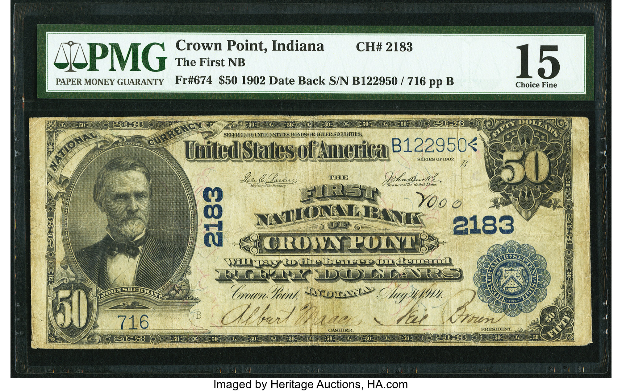 sample image for 1902 3rd Charter Period $50  Date Back 2nd Issue (Fr.# 674)