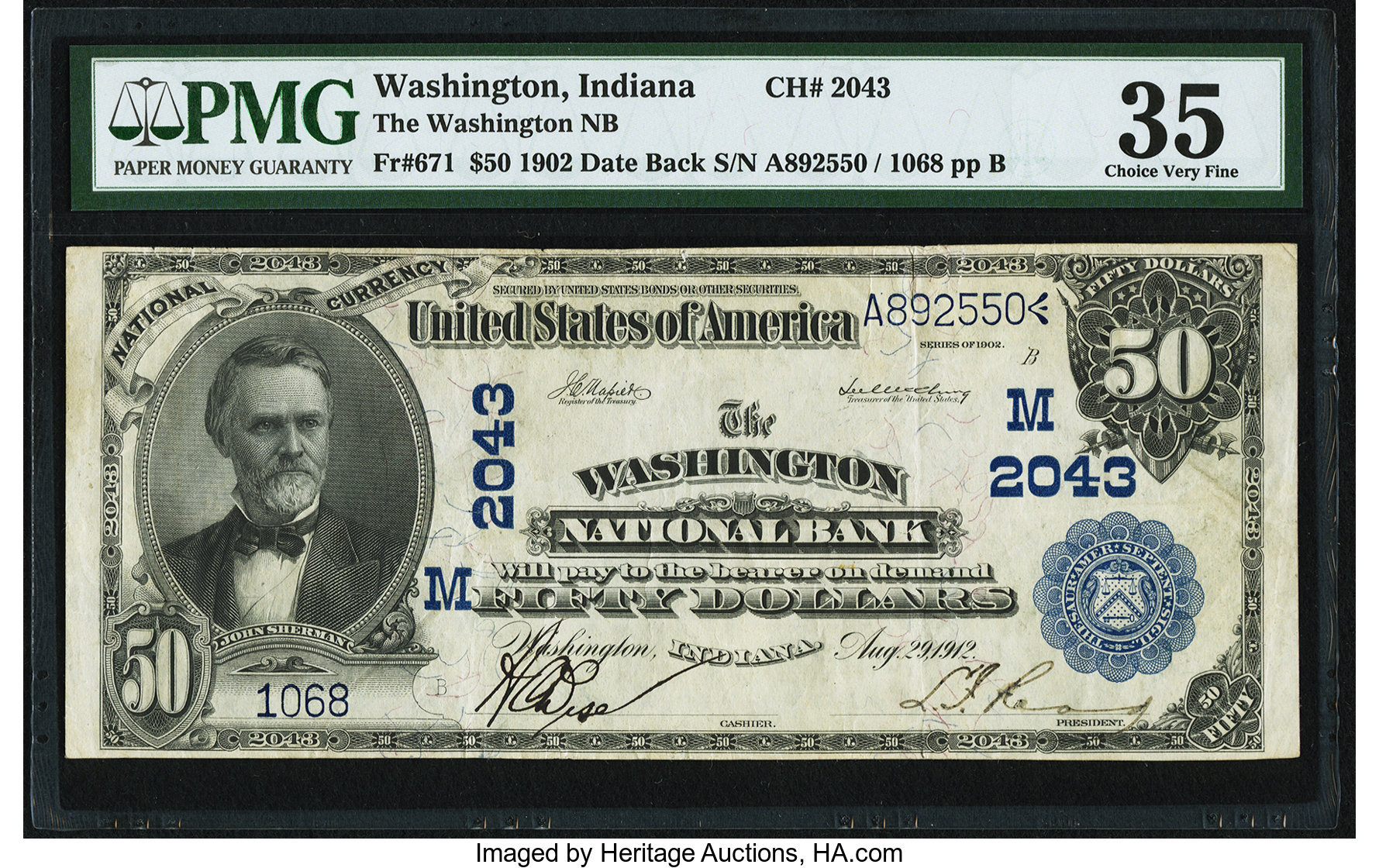 sample image for 1902 3rd Charter Period $50  Date Back 2nd Issue (Fr.# 671)