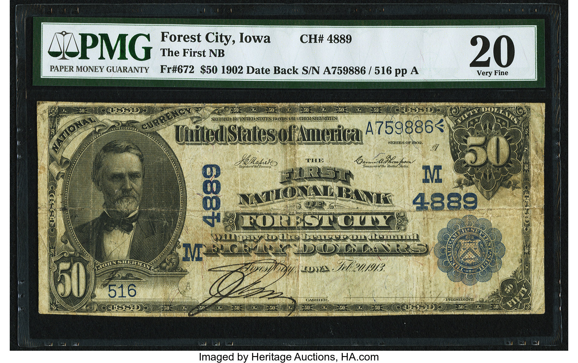 sample image for 1902 3rd Charter Period $50  Date Back 2nd Issue (Fr.# 672)