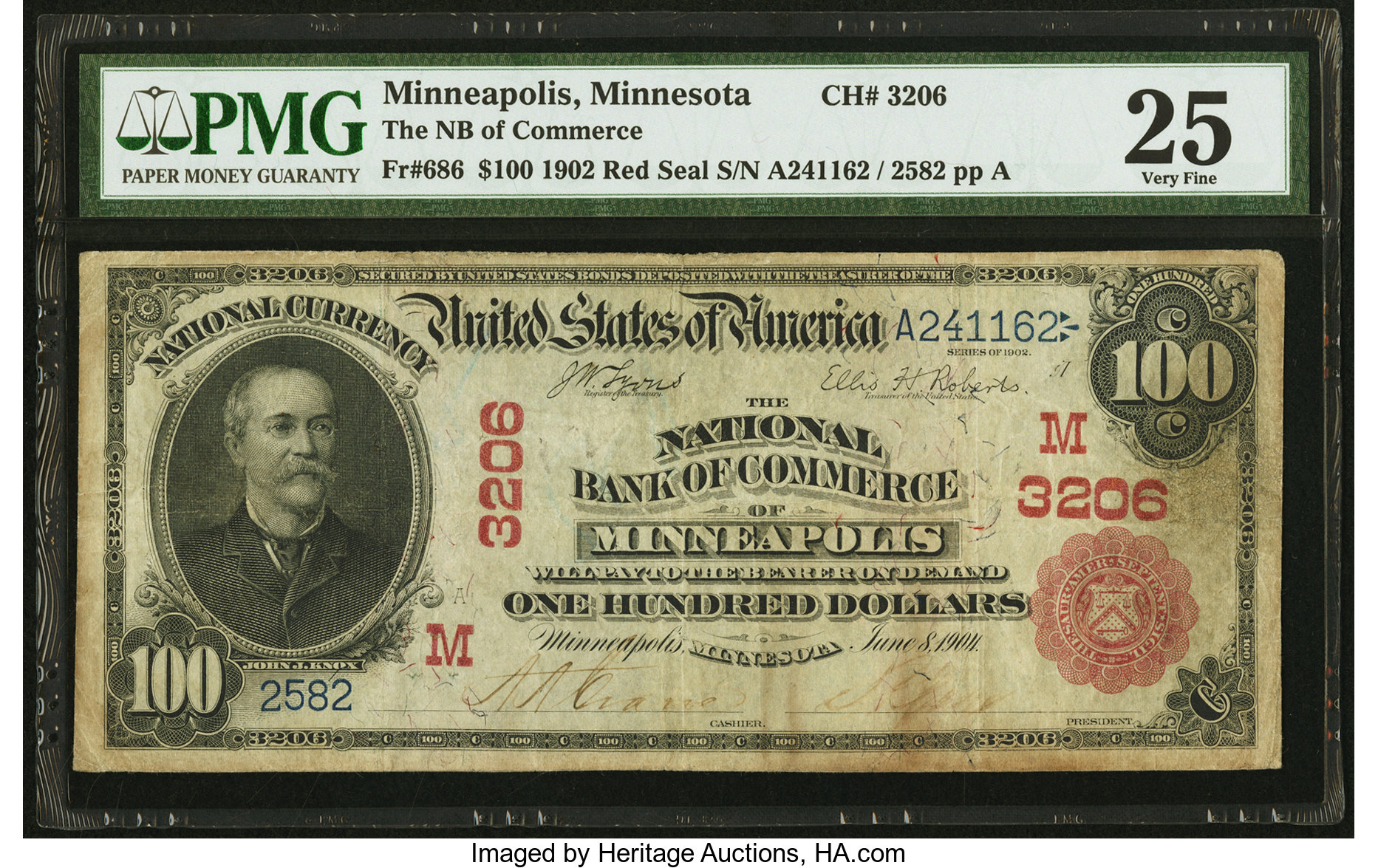 sample image for 1902 3rd Charter Period $100  Red Seal 1st Issue (Fr.# 686)