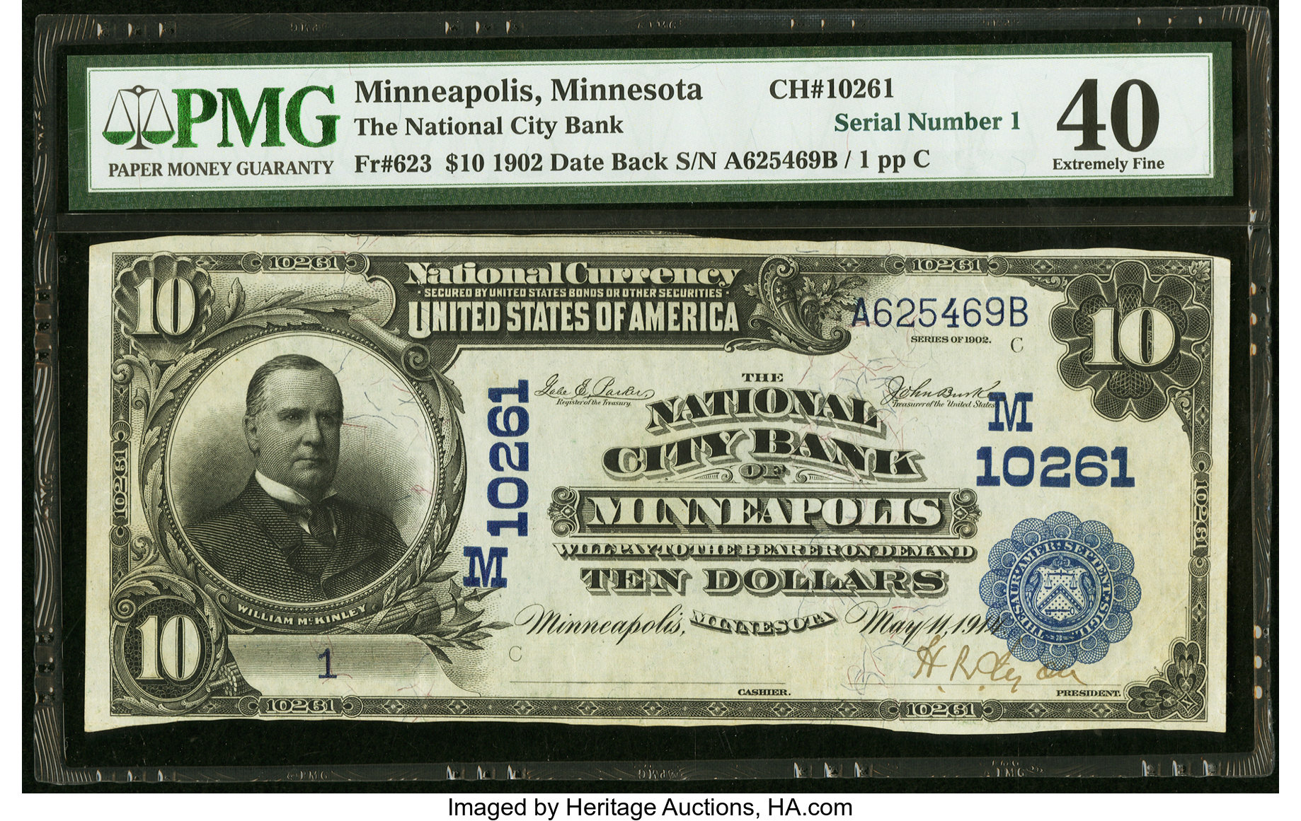 sample image for 1902 3rd Charter Period $10  Date Back 2nd Issue (Fr.# 623)