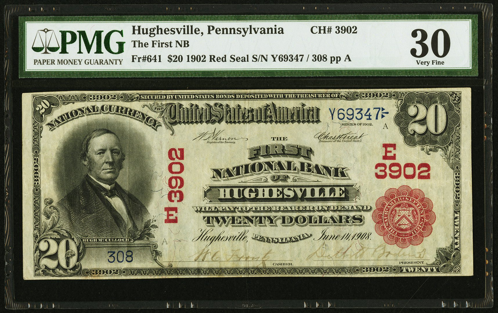 sample image for 1902 3rd Charter Period $20  Red Seal 1st Issue (Fr.# 641)
