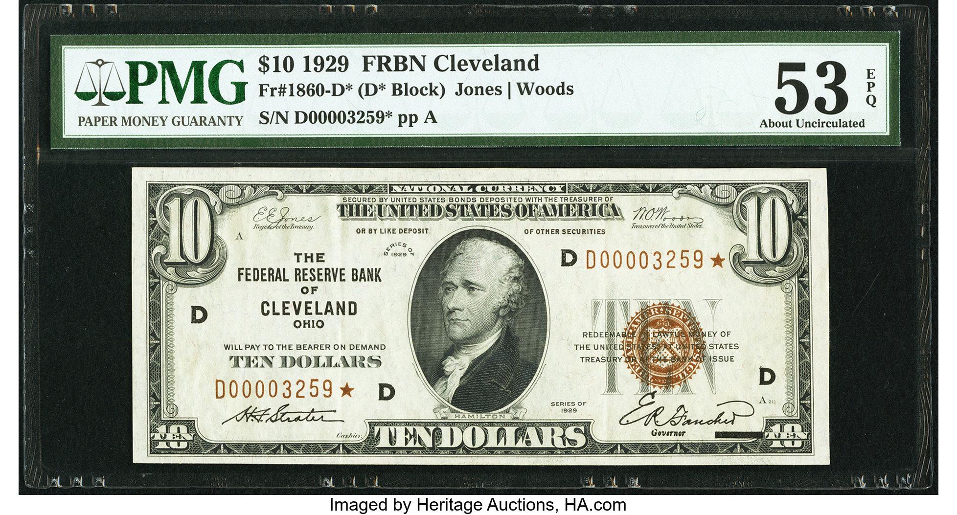 sample image for 1929 $10  Cleveland (Fr.# 1860D)