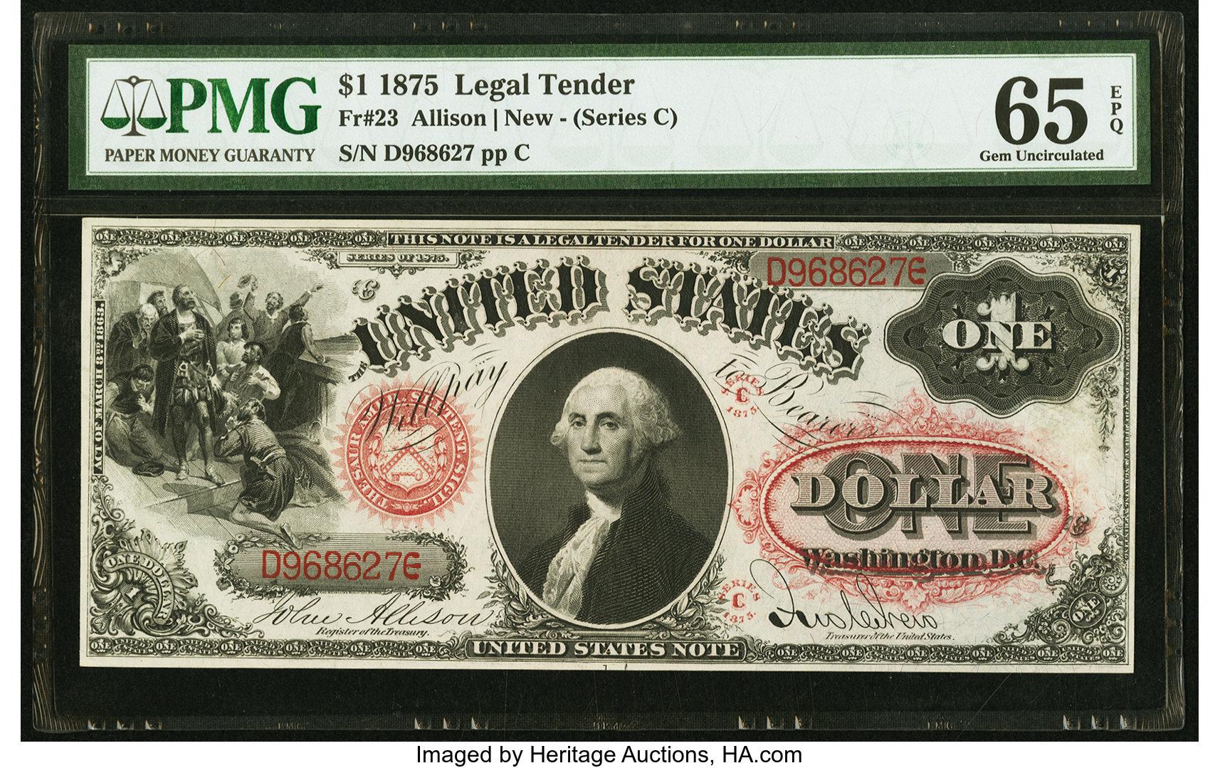 sample image for 1875 $1  (Fr.# 23)