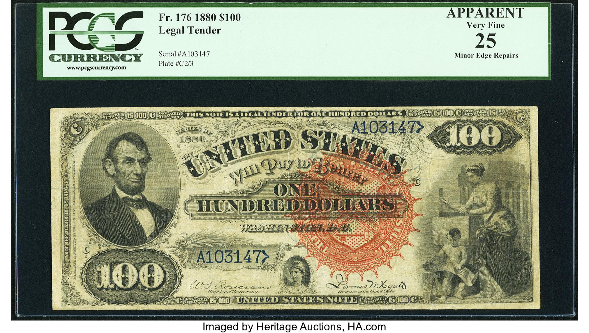sample image for 1880 $100  (Fr.# 176)