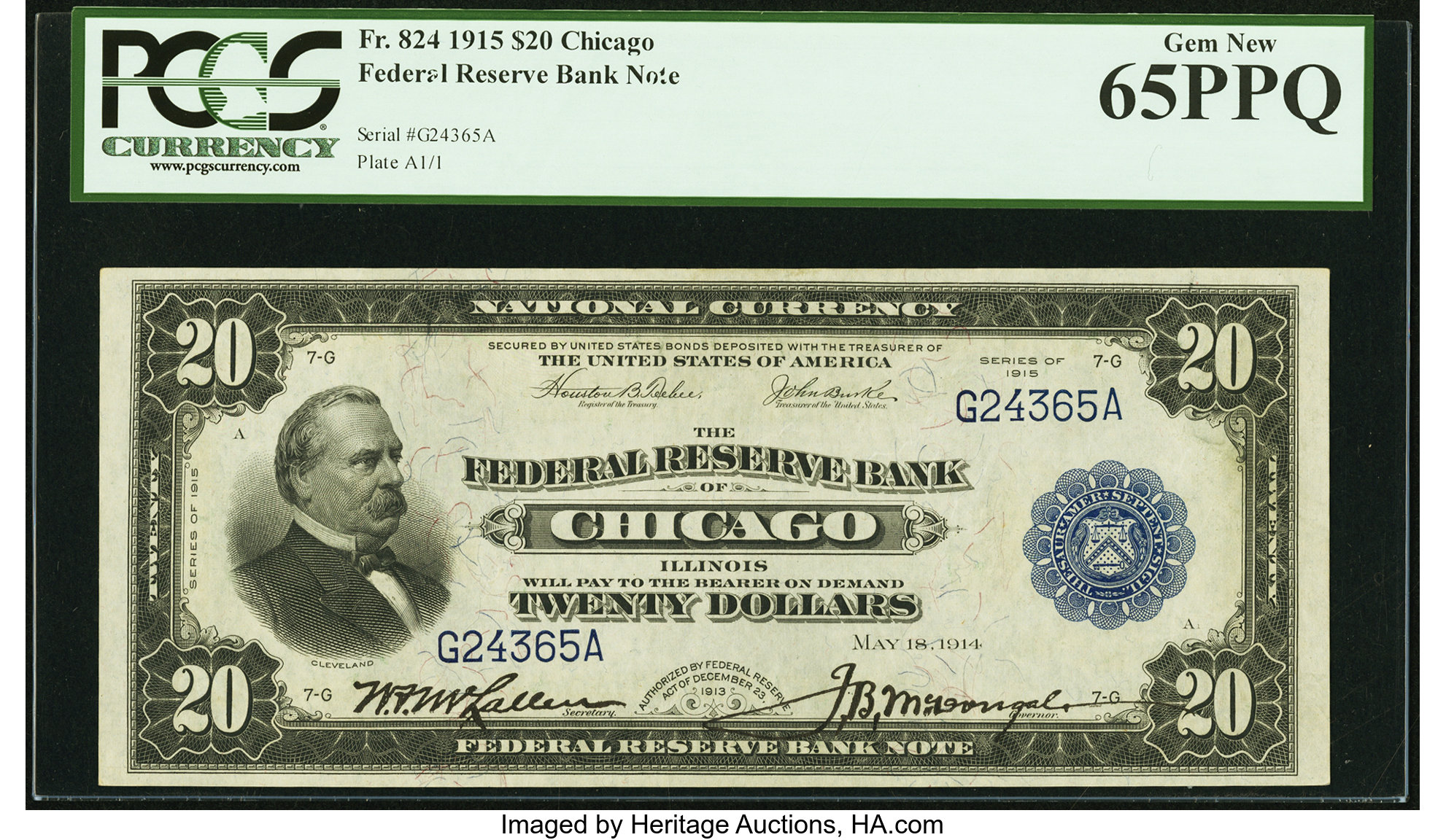sample image for 1915 $20  Chicago (Fr.# 824)