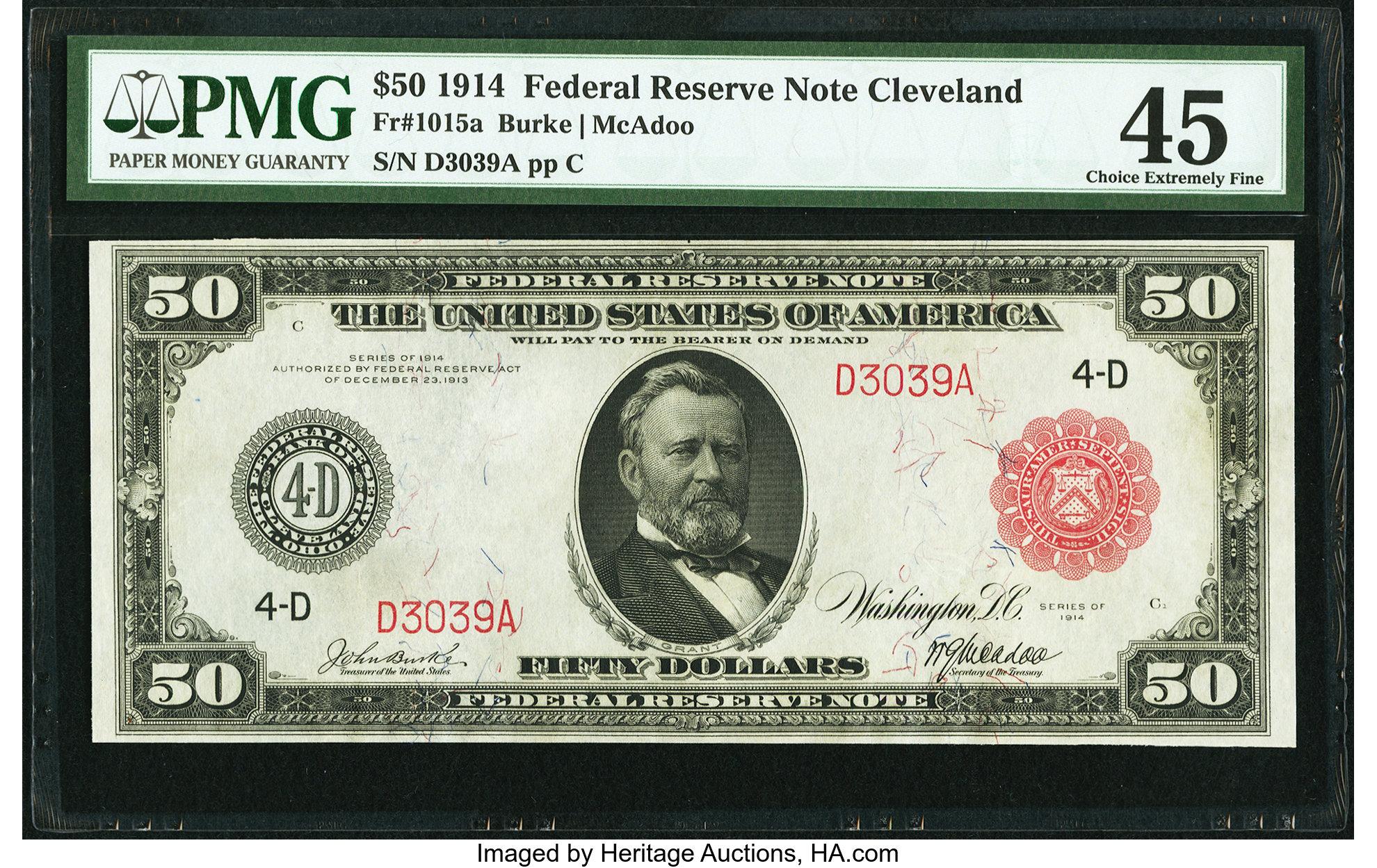 sample image for Fr.1015A $50 Cleveland RS