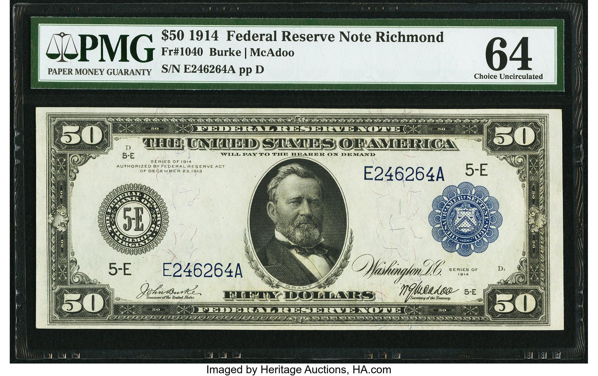 sample image for Fr.1040 $50 Richmond