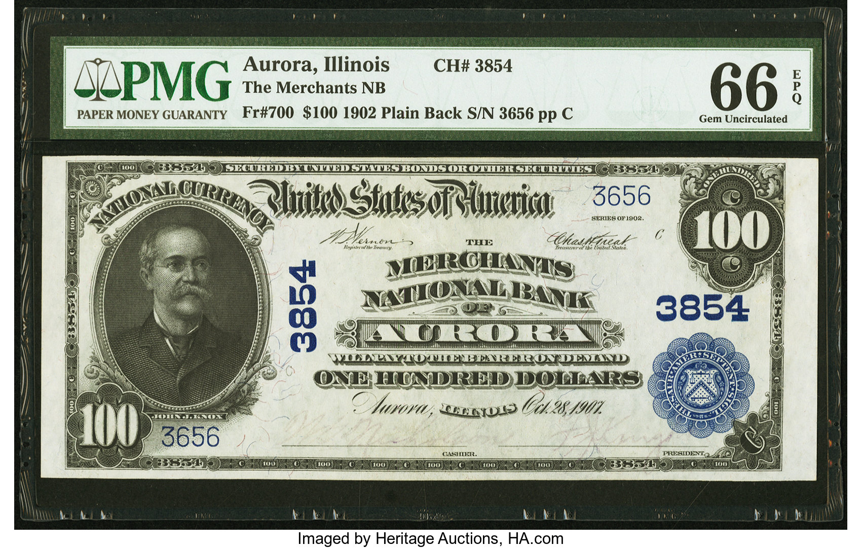 sample image for 1902 3rd Charter Period $100  Plain Back 3rd Issue (Fr.# 700)