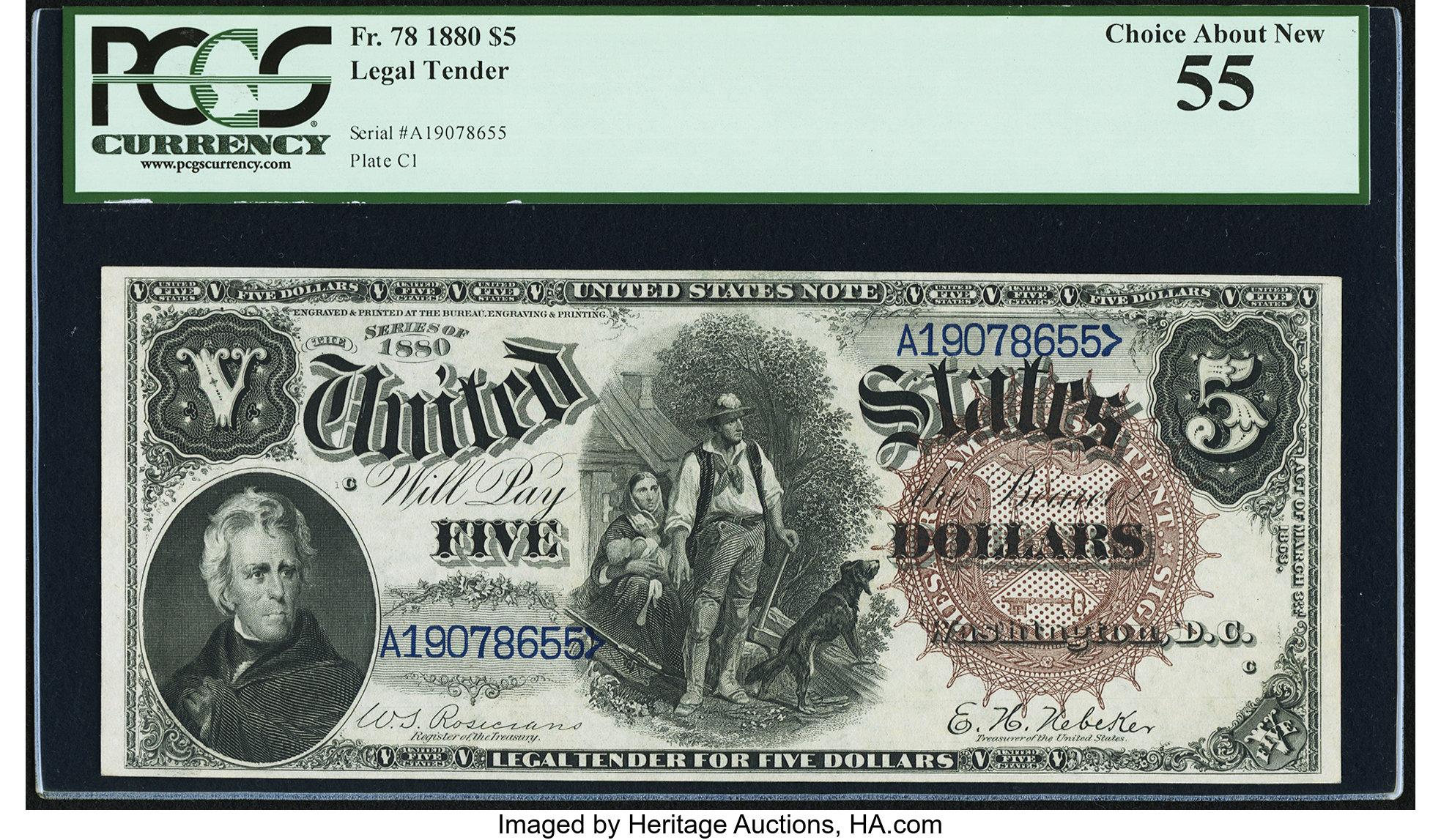 sample image for 1880 $5  (Fr.# 78)