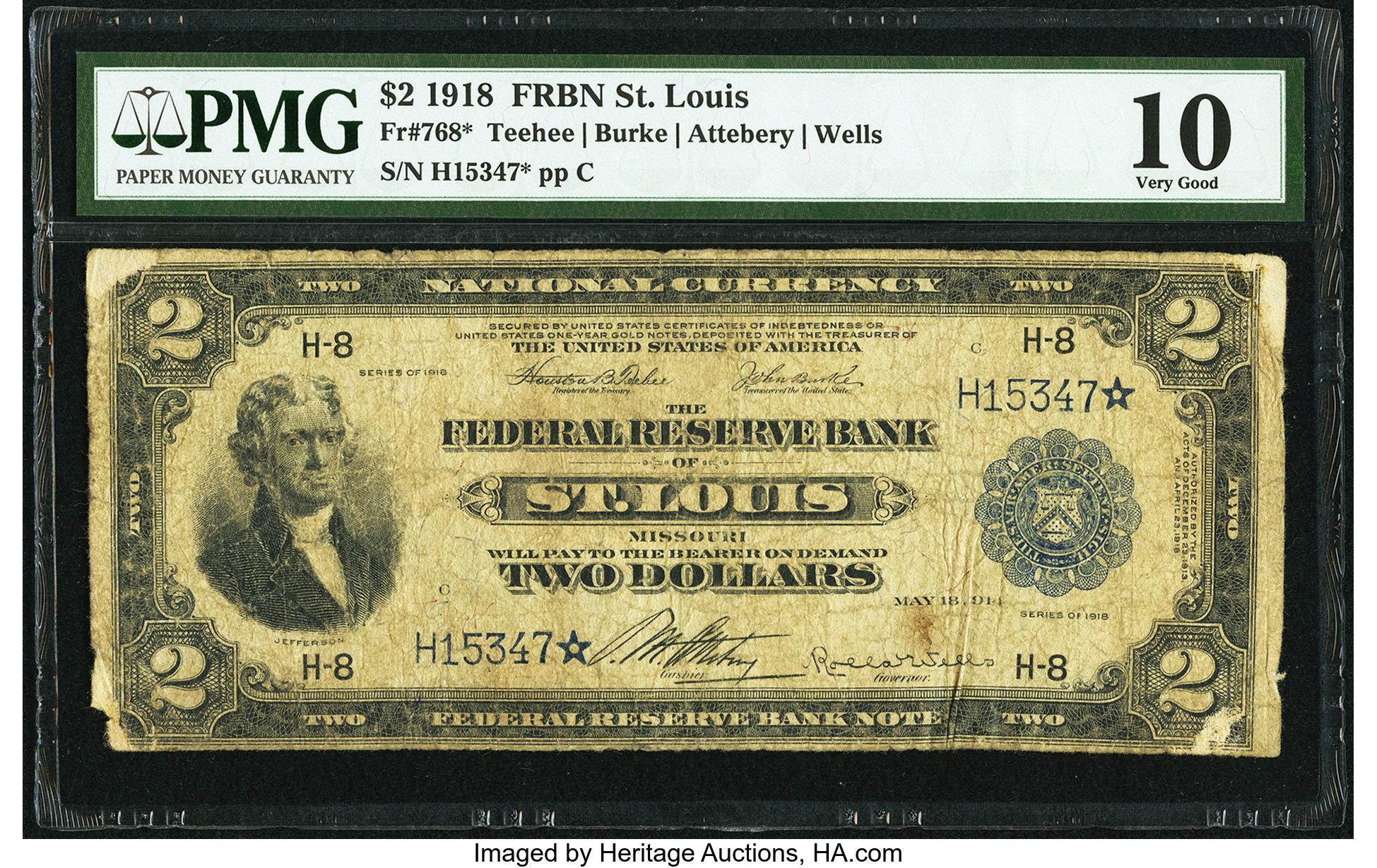 sample image for 1918 $2  St. Louis (Fr.# 768)