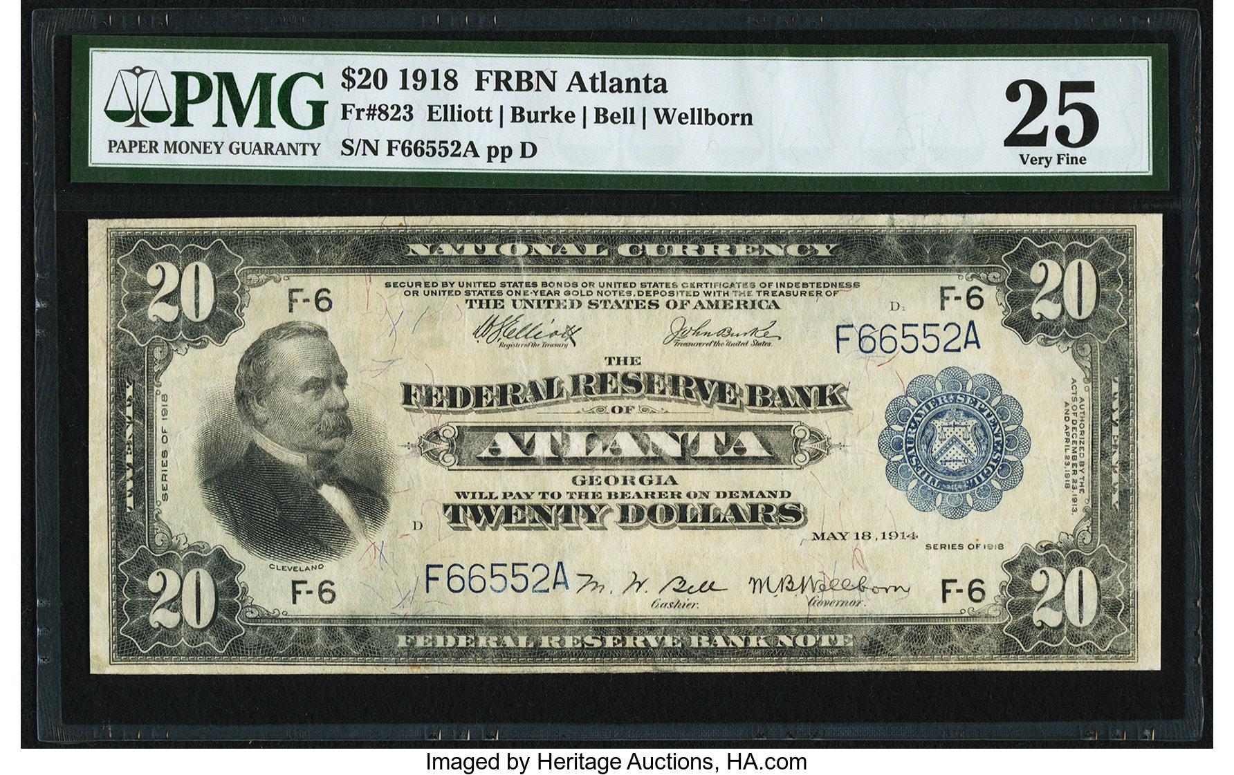 sample image for 1918 $20  Atlanta (Fr.# 823)