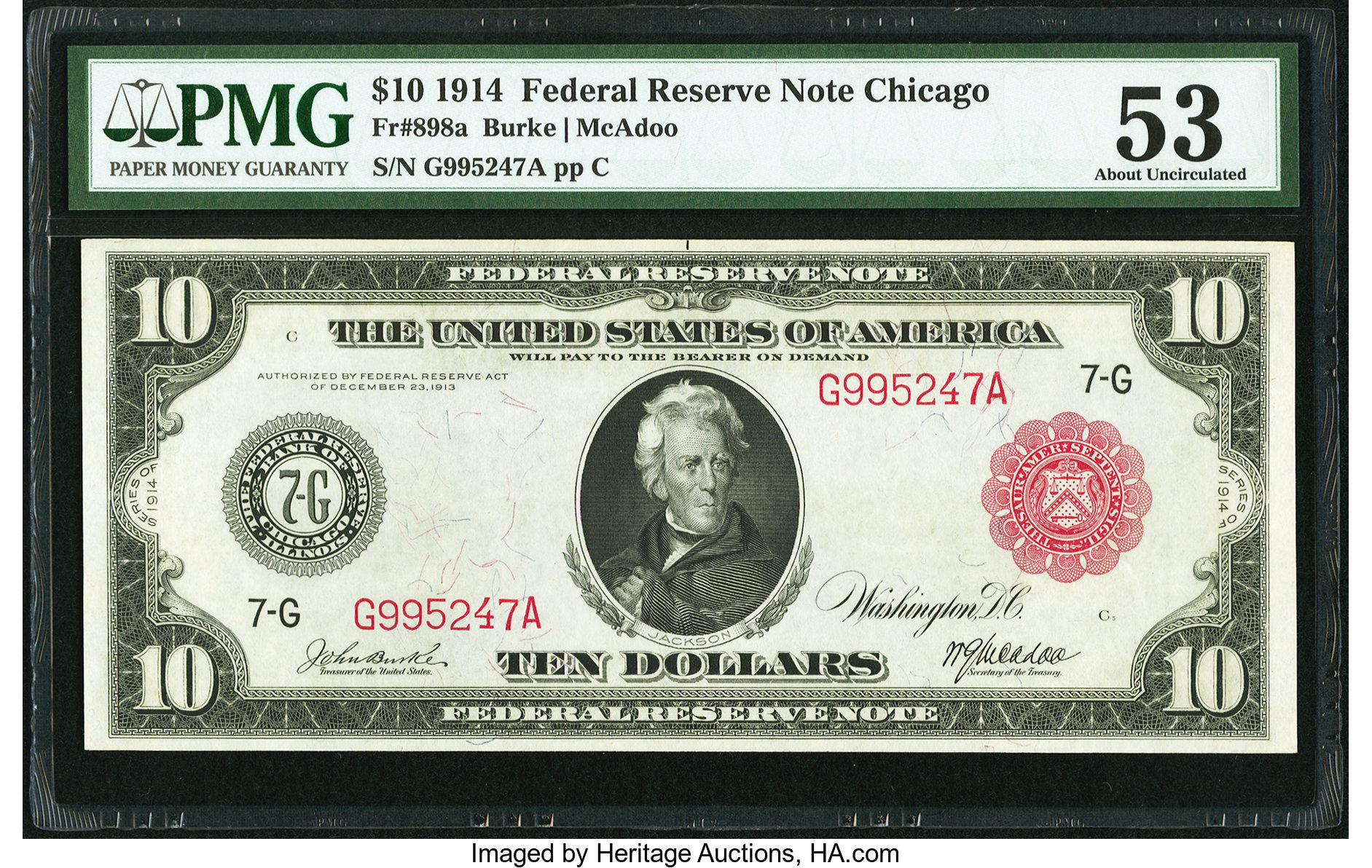 sample image for Fr.898A $10 Chicago RS