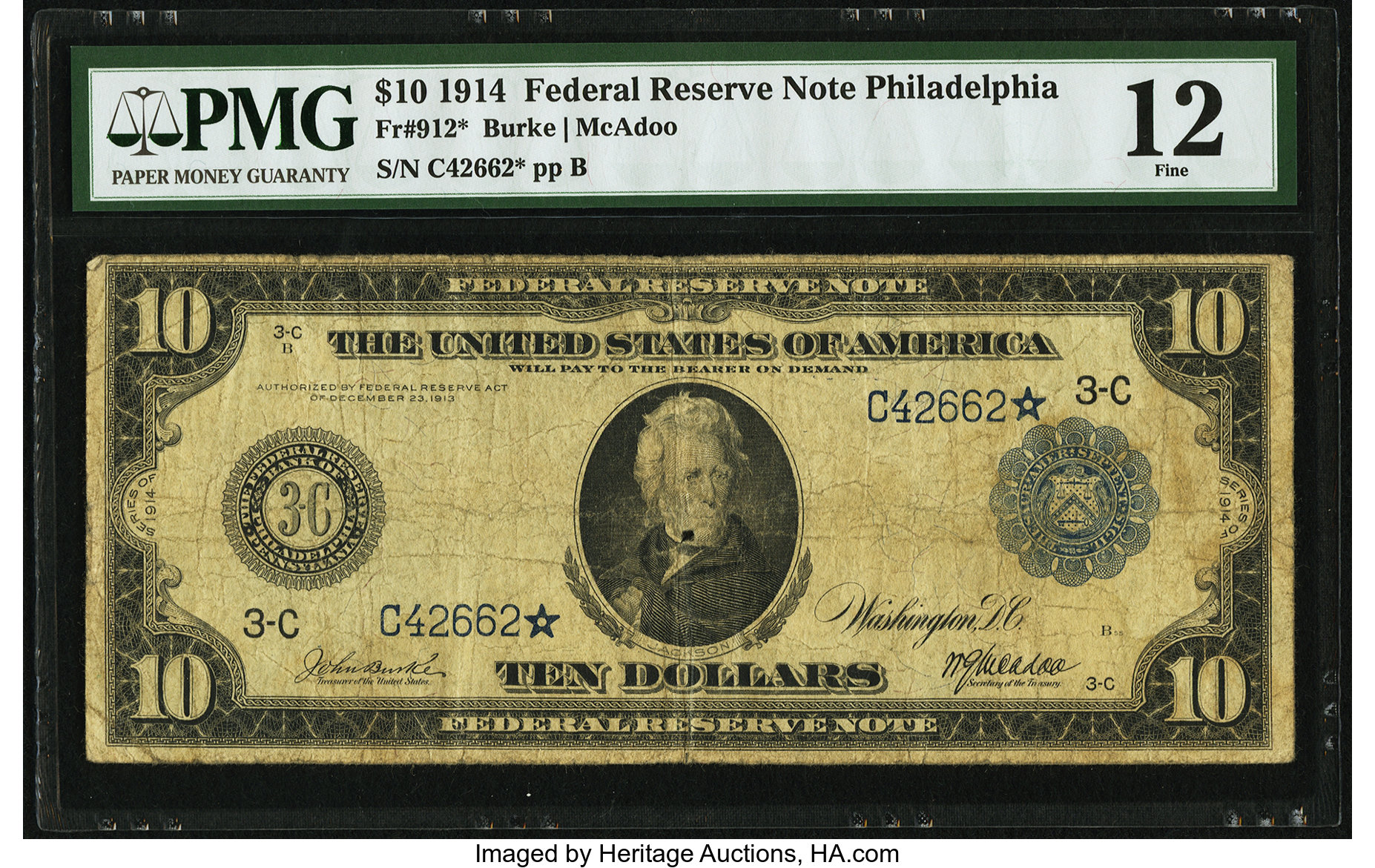 sample image for Fr.912 $10 Philly
