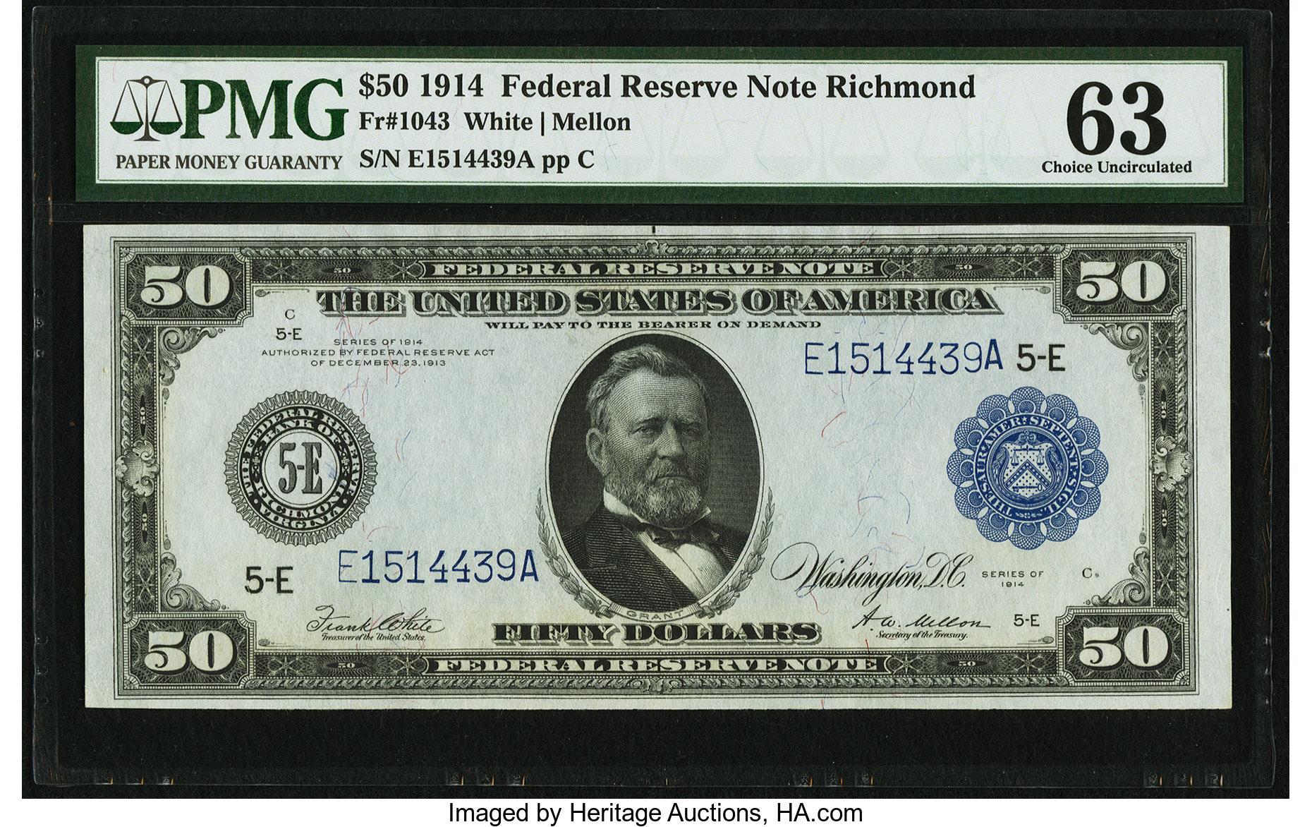 sample image for Fr.1043 $50 Richmond